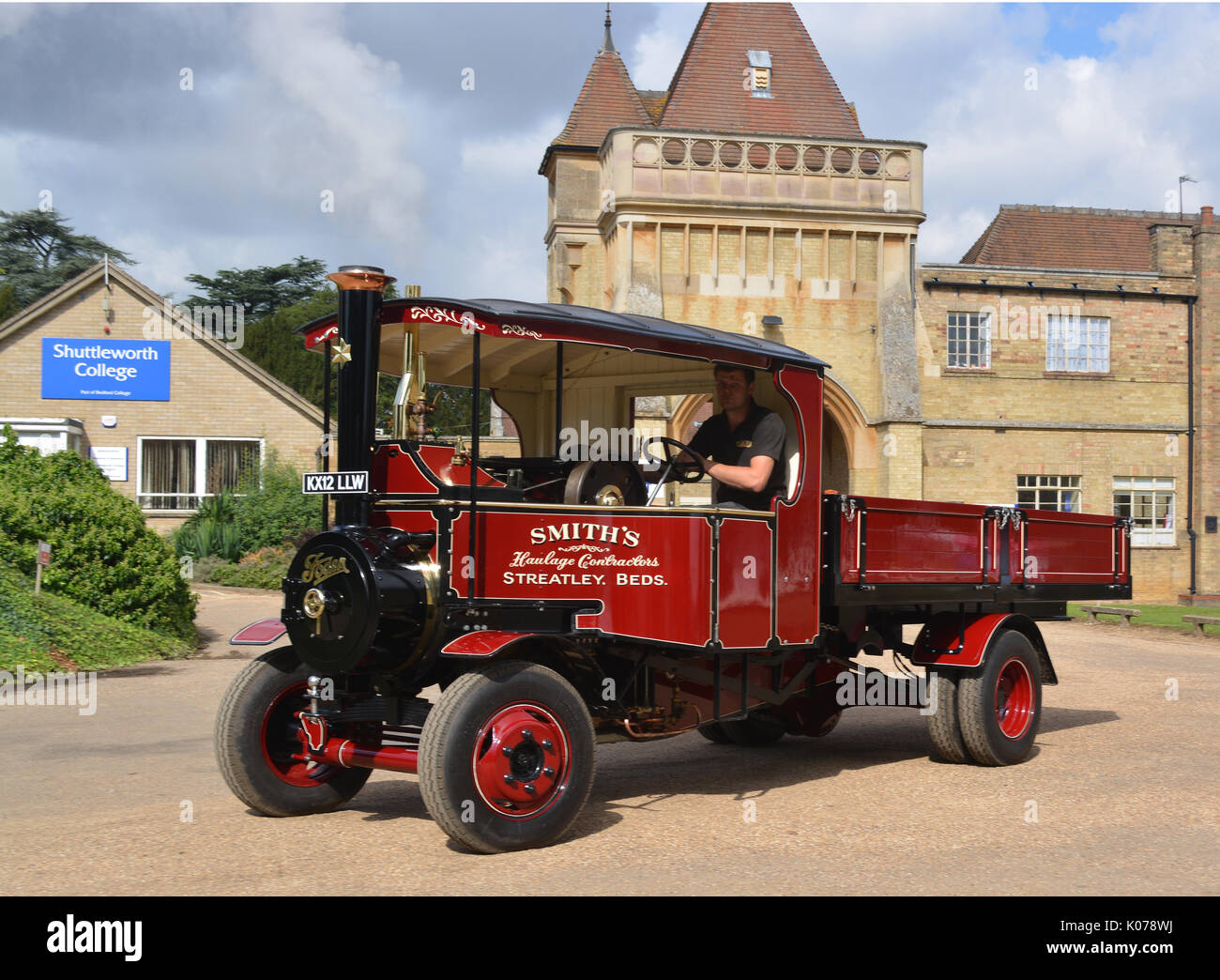 9 inch scale Foden Steam Wagon - Stock Image
