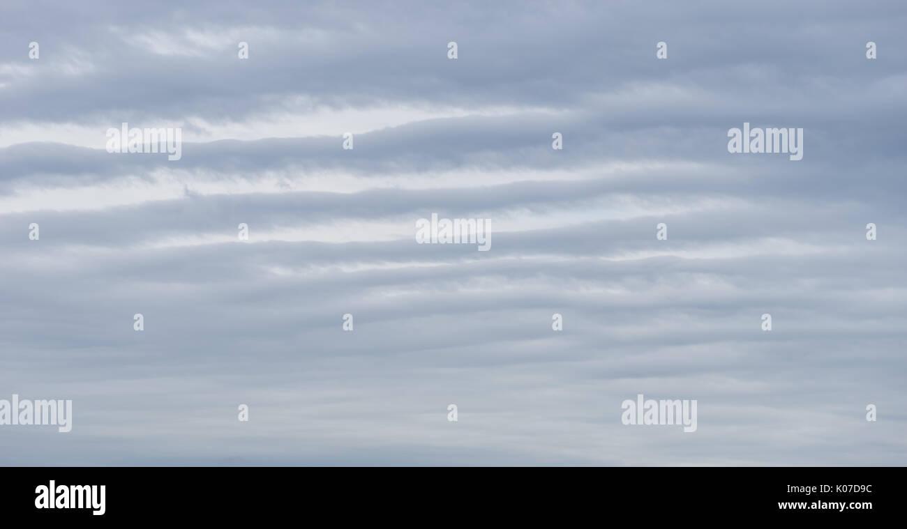 Striped rain cloud - Stock Image
