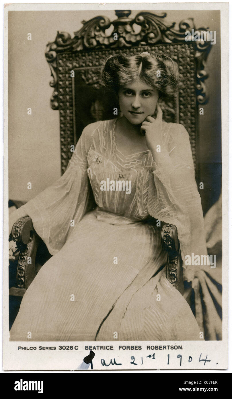 Beatrice Forbes-Robertson (1883 - 1967), English actress, lecturer, writer, and suffragist.        Date: - Stock Image