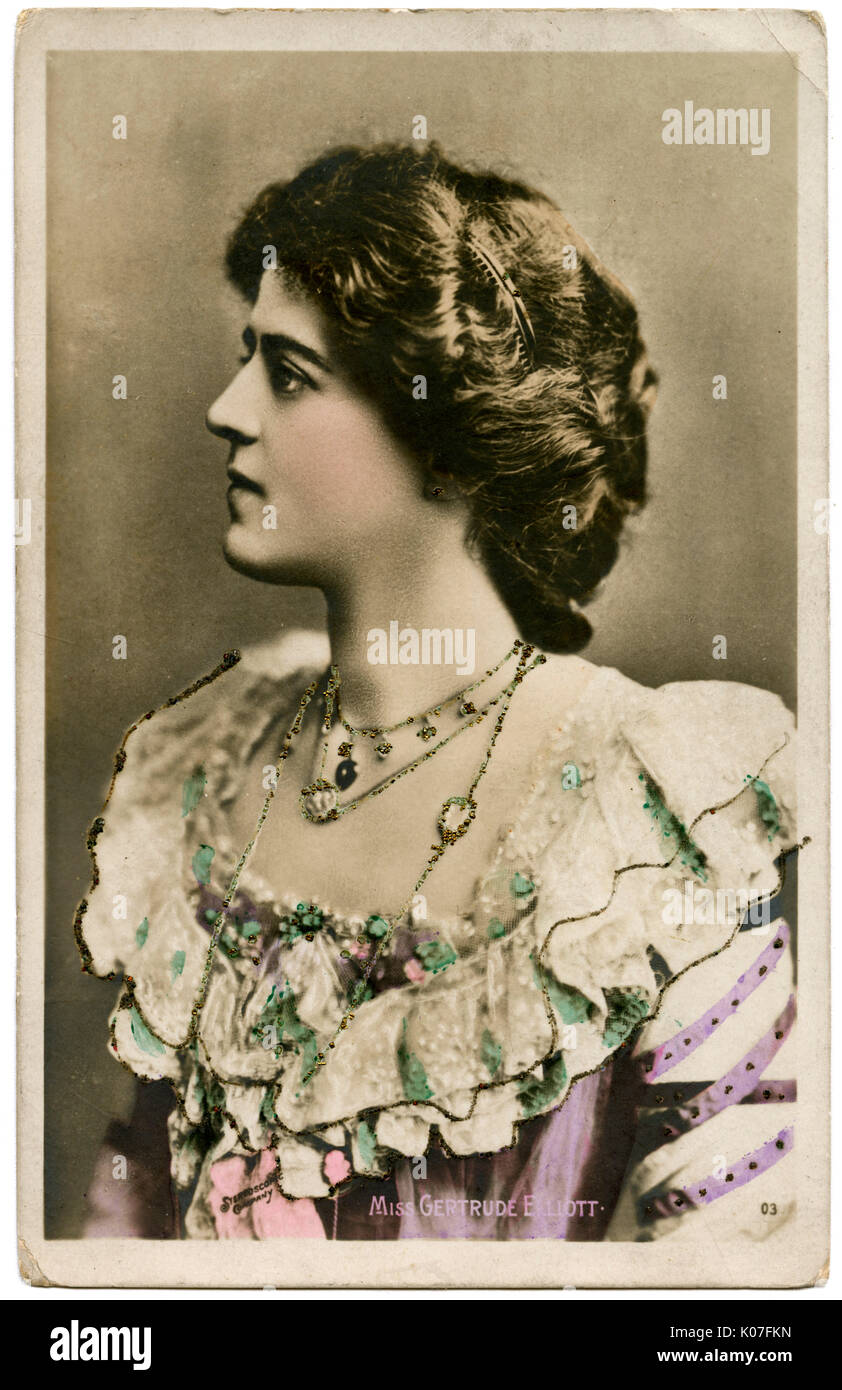 Gertrude Elliott  American actress, wife of Sir Johnston Forbes-Robertson       Date: 1905 - Stock Image