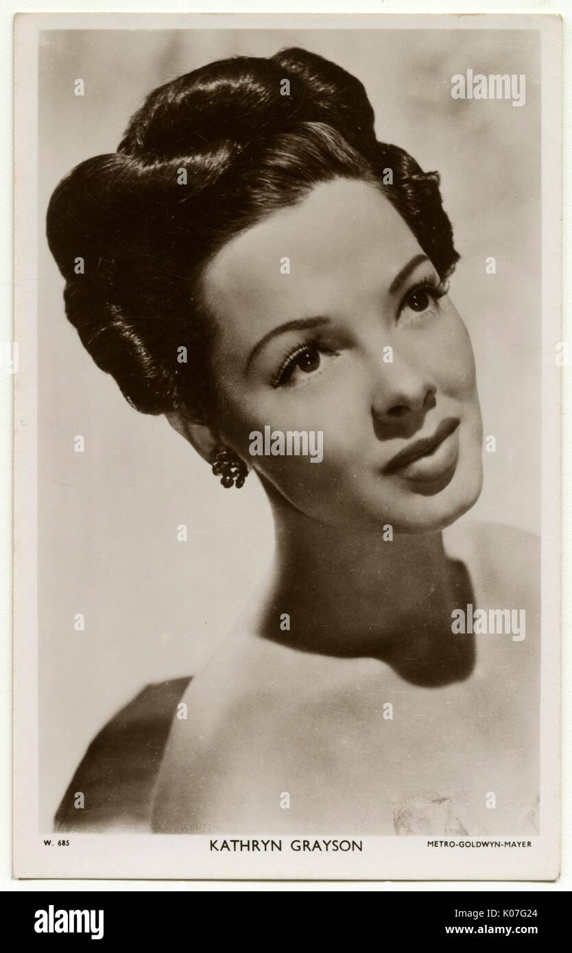 KATHRYN GRAYSON (Zelma Hedrick)   American singer and film actress      Date: 1922 - - Stock Image