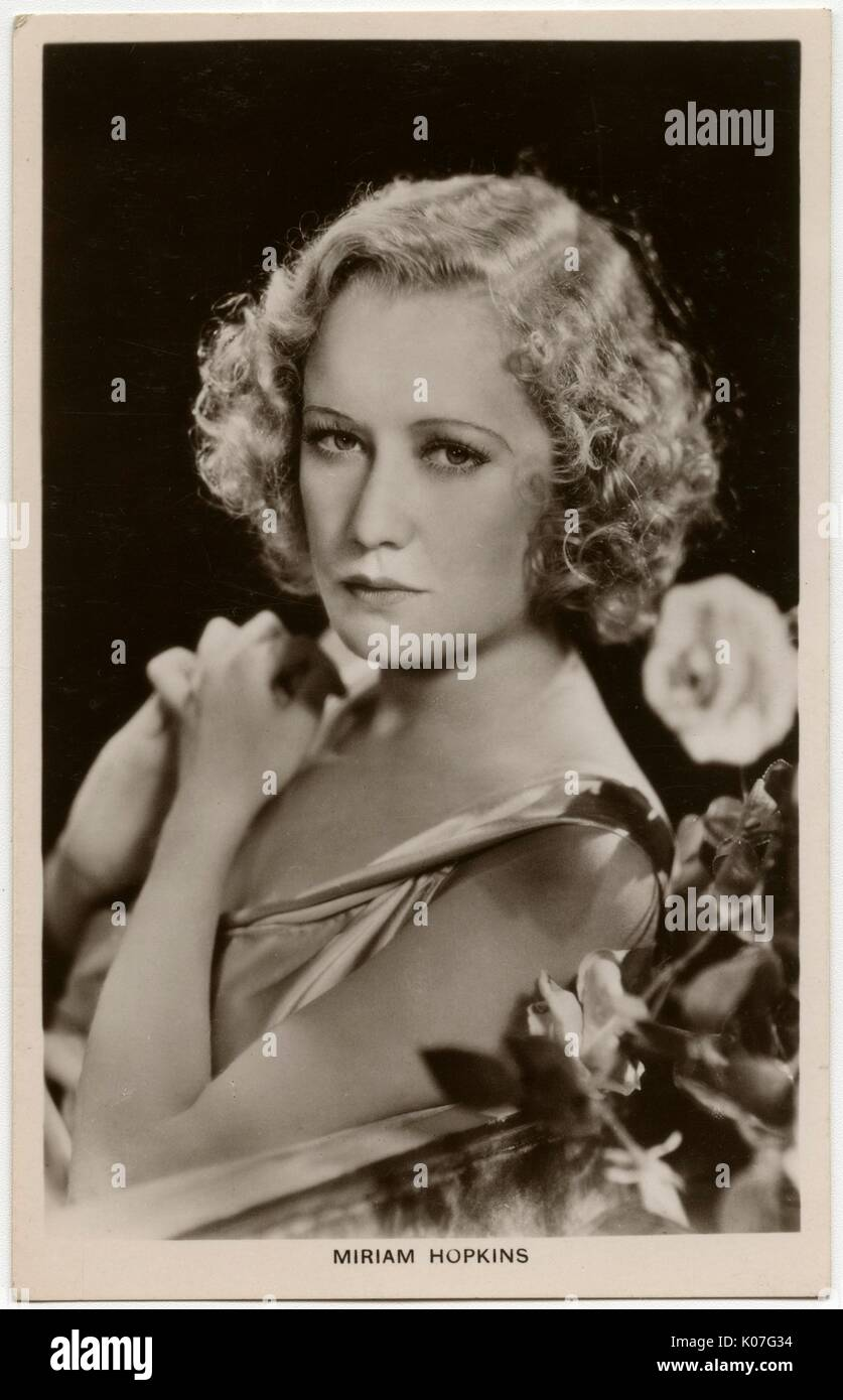 Miriam Hopkins (1902 - 1972), American film actress,  formerly a dancer       Date: Stock Photo