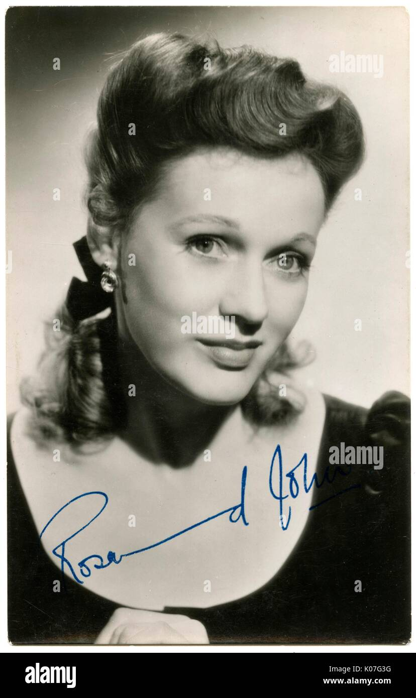 Rosamund John (Nora R Jones) (1913  1998), British actress of stage and screen      Date: - Stock Image