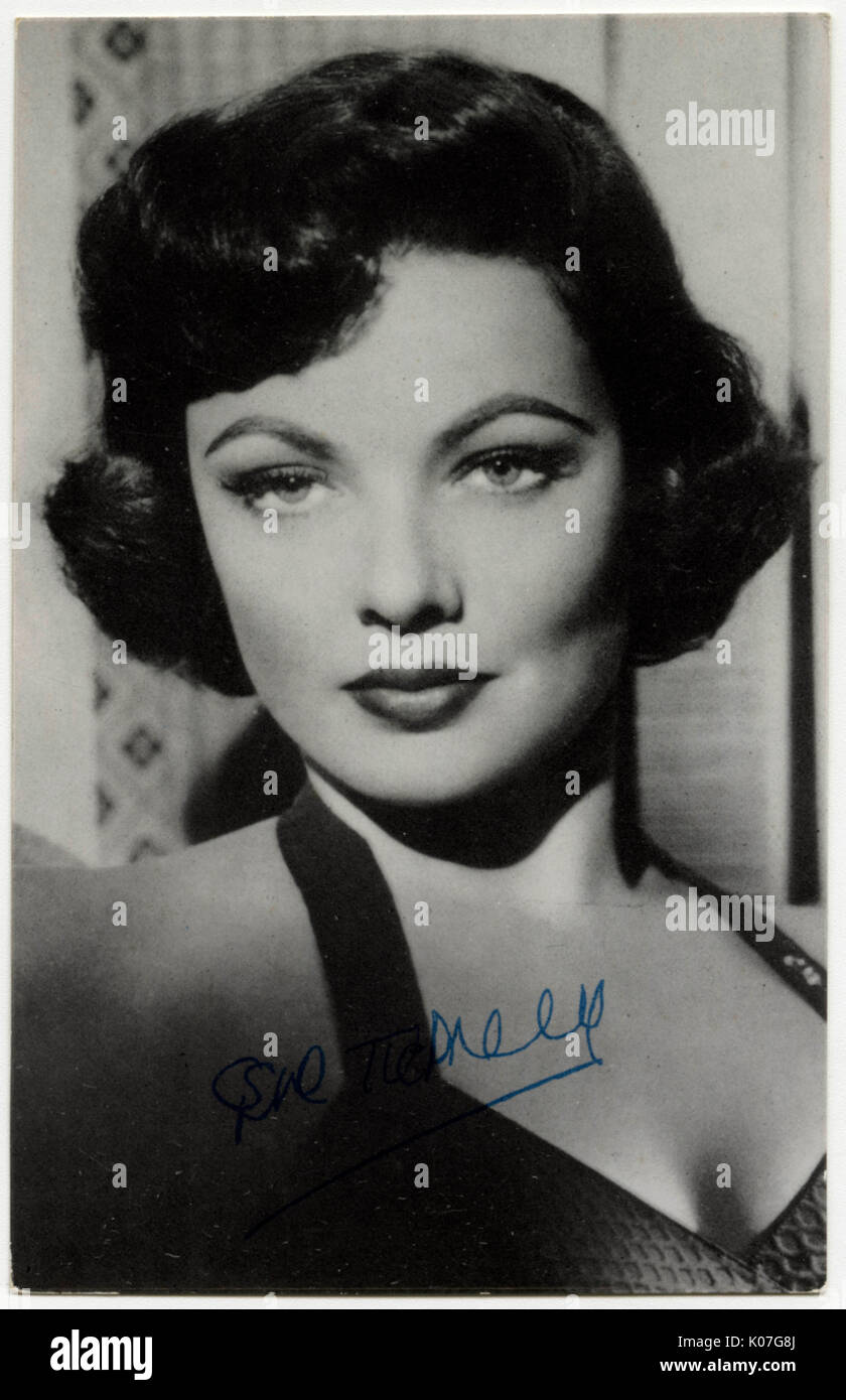 Gene Tierney (1920 - 1991), New York socialite who became an actress on film and stage, first on stage,  then in Hollywood films      Date: - Stock Image