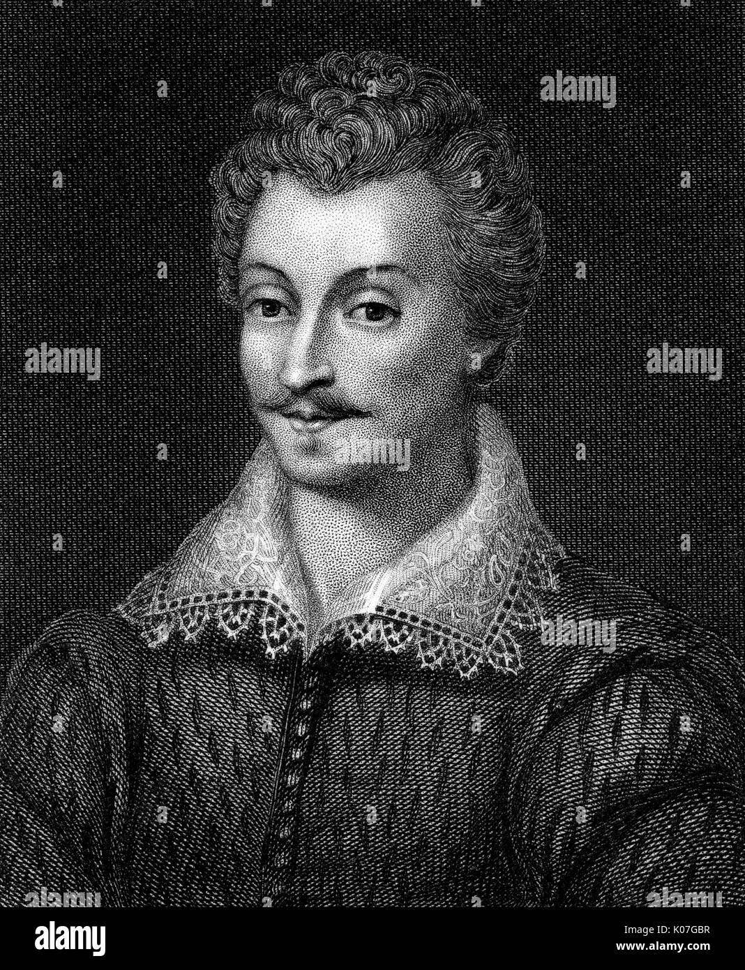 Sir Philip Sidney (1554 - 1586) - writer        Date: - Stock Image