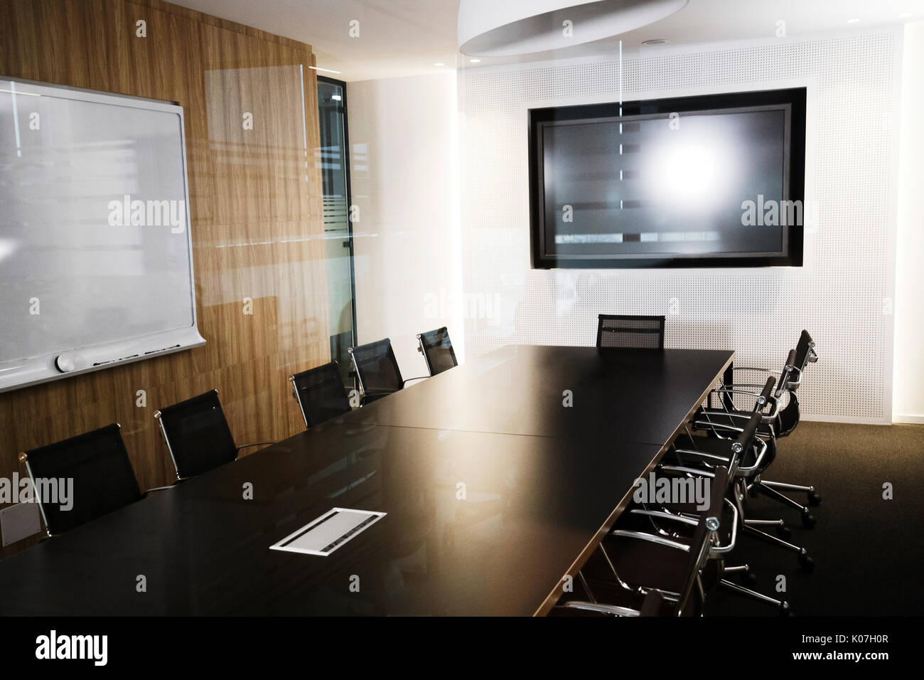 Picture of modern furnished conference room beautifully designed - Stock Image