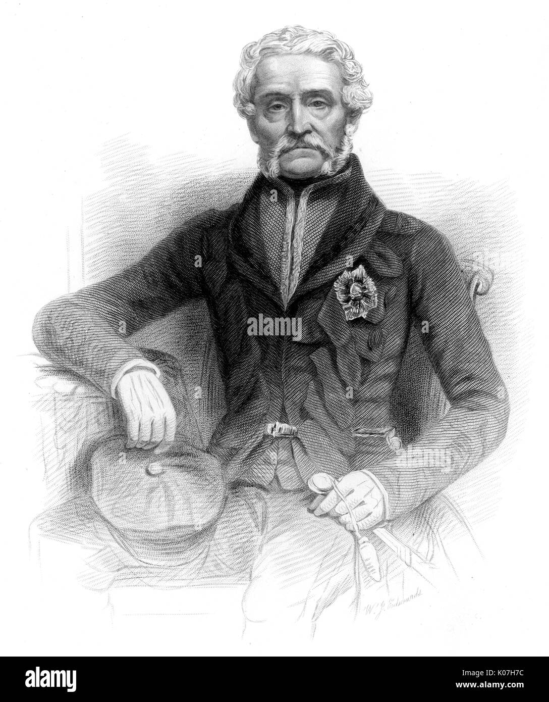 Sir Harry Smith (1787 - 1860) - soldier and  administrator whose arrogant  and insensitive policies, coupled with his incompetence, led to catastrophe for the Xhosa (Kaffirs)in South Africa     Date: - Stock Image