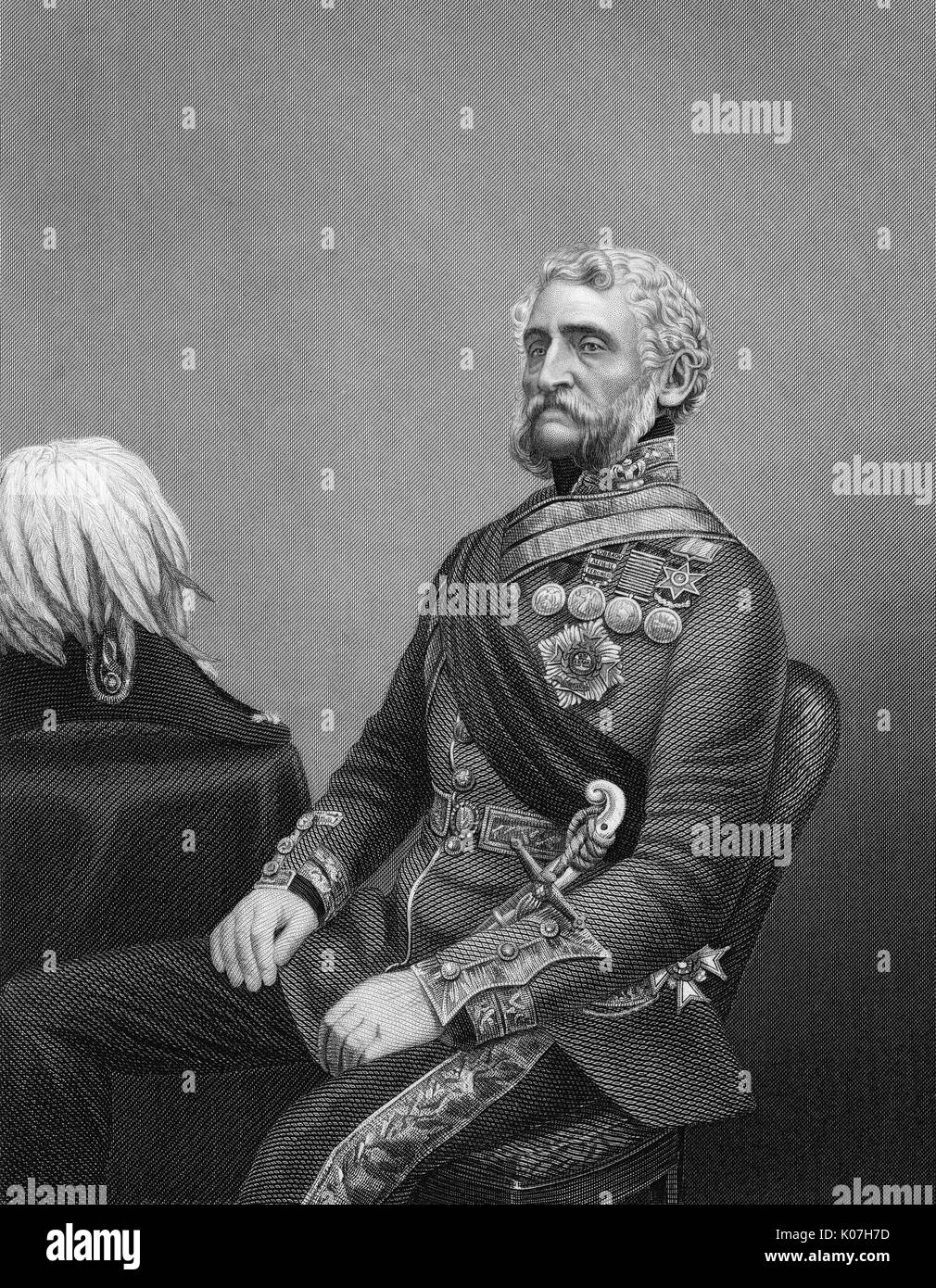 Sir Harry Smith (1787 - 1860) - soldier and administrator whose arrogant  and insensitive policies,  coupled with his incompetence, led to catastrophe for the Xhosa (Kaffirs) in South Africa     Date: - Stock Image