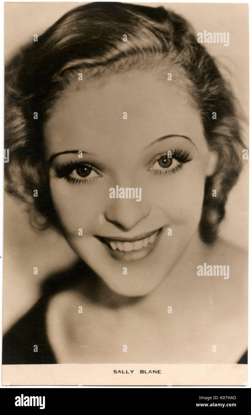 Sally Blane (1910 - 1997), American actress.     Date: - Stock Image