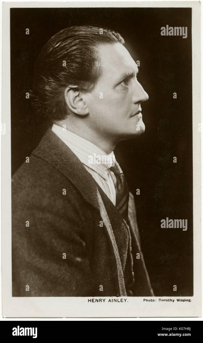 Henry Hinchliffe Ainley (1879 - 1945), English Shakespearean stage and screen actor.     Date: - Stock Image