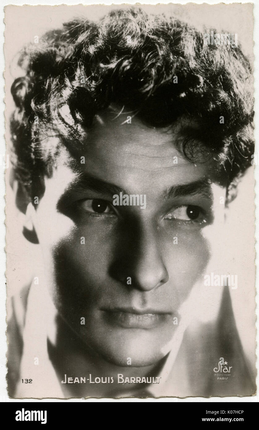 Jean-Louis Barrault (1910 - 1994),  French actor, director and mime artist.     Date: - Stock Image
