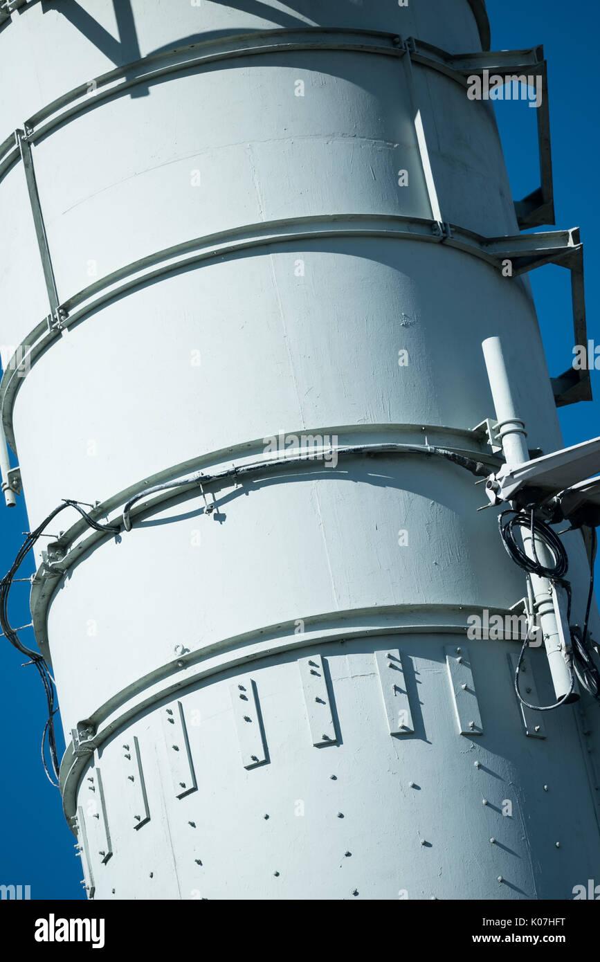 Radio and TV transmitter masts, Winter Hill, Lancashire Stock Photo