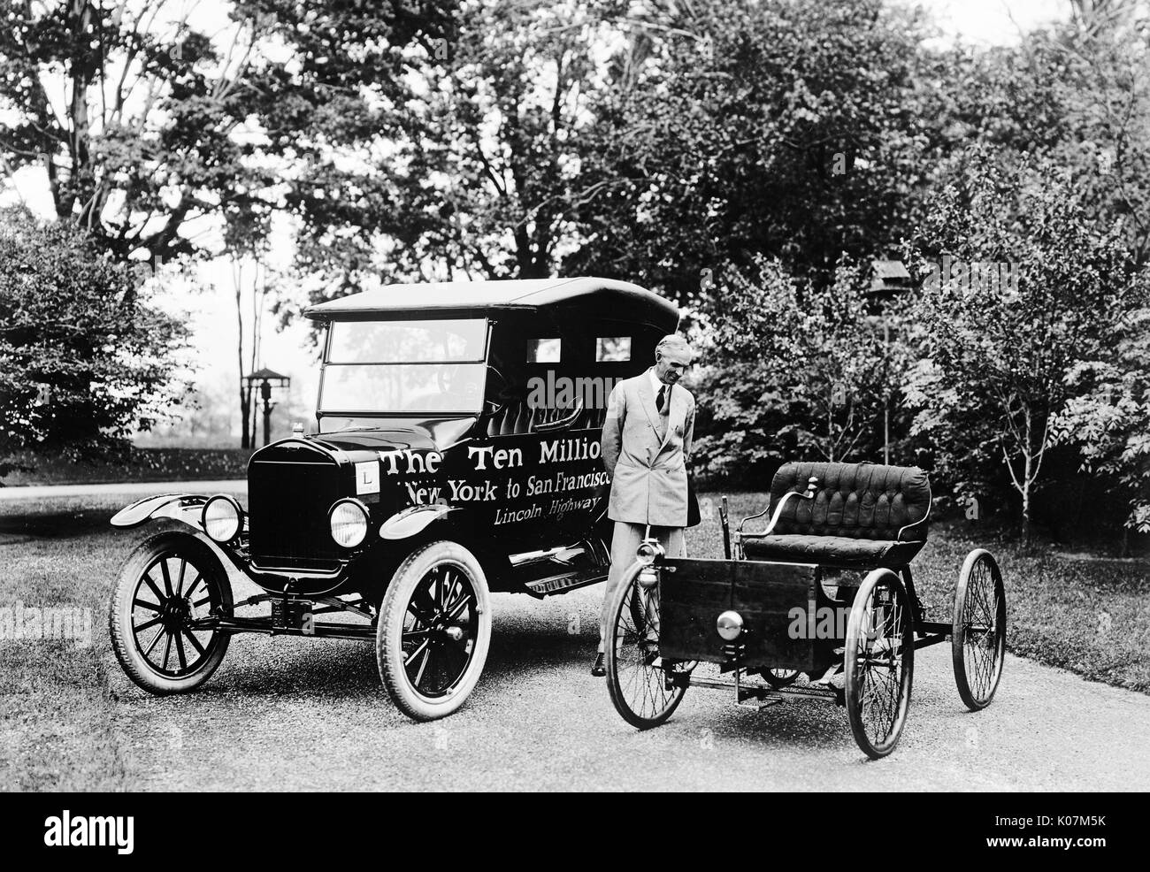 The first and the ten millionth Fod Motor Car produced in America on ...