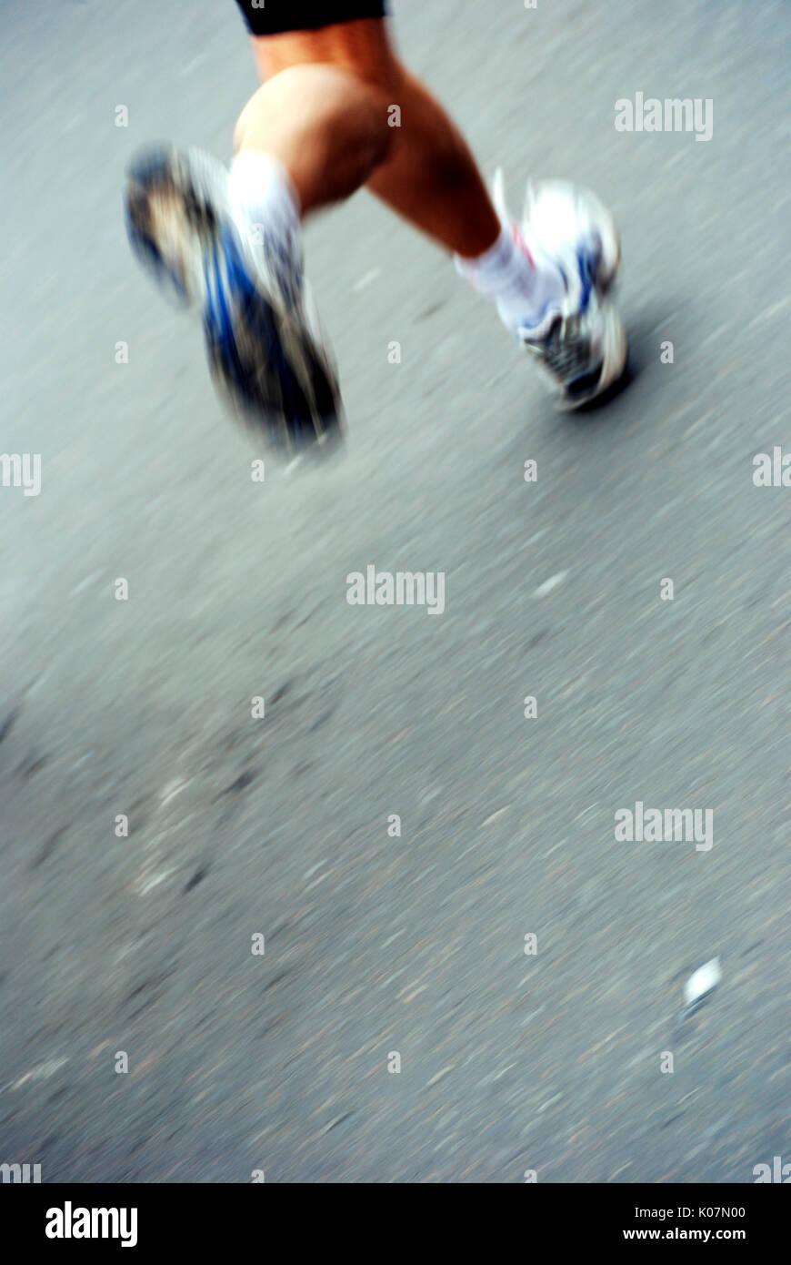 athlete running legs - Stock Image