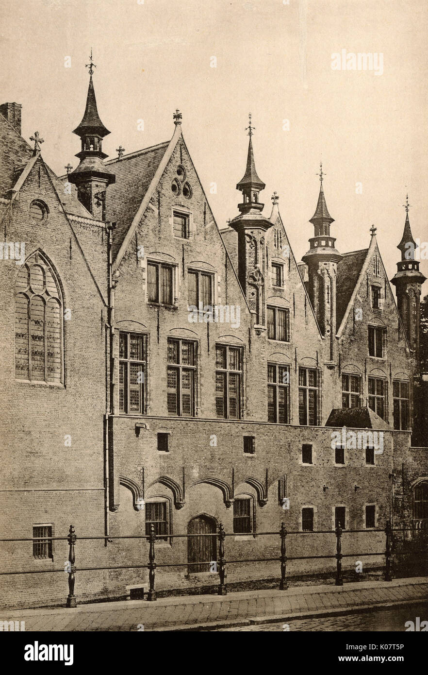 Palais du Franc (Brugse Vrije), with its distinctive turrets, Bruges, Belgium, dating back to the 16th century. - Stock Image
