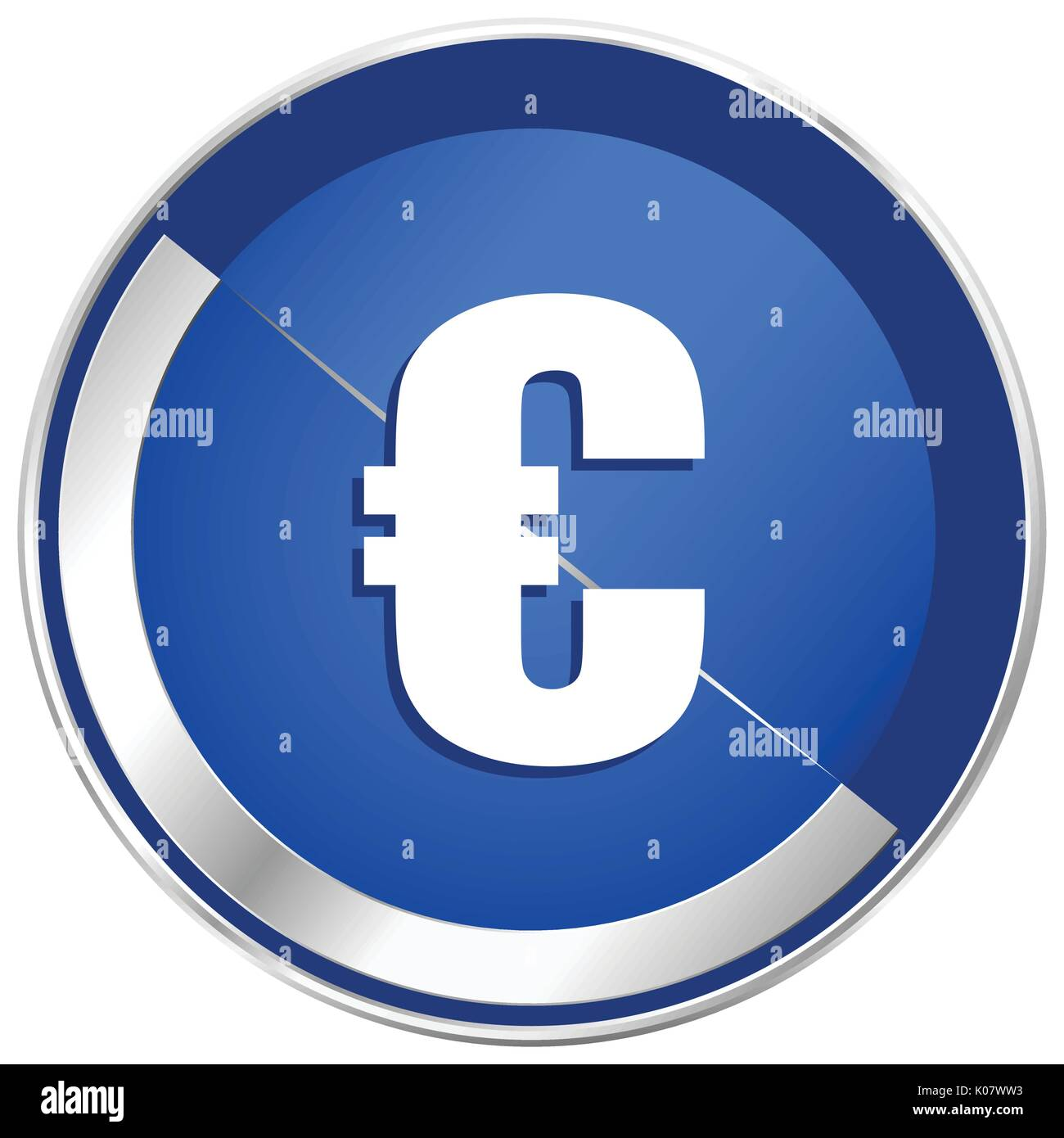 Cent in mobile phone stock photos cent in mobile phone stock euro silver metallic web and mobile phone vector icon in eps 10 stock image biocorpaavc Images