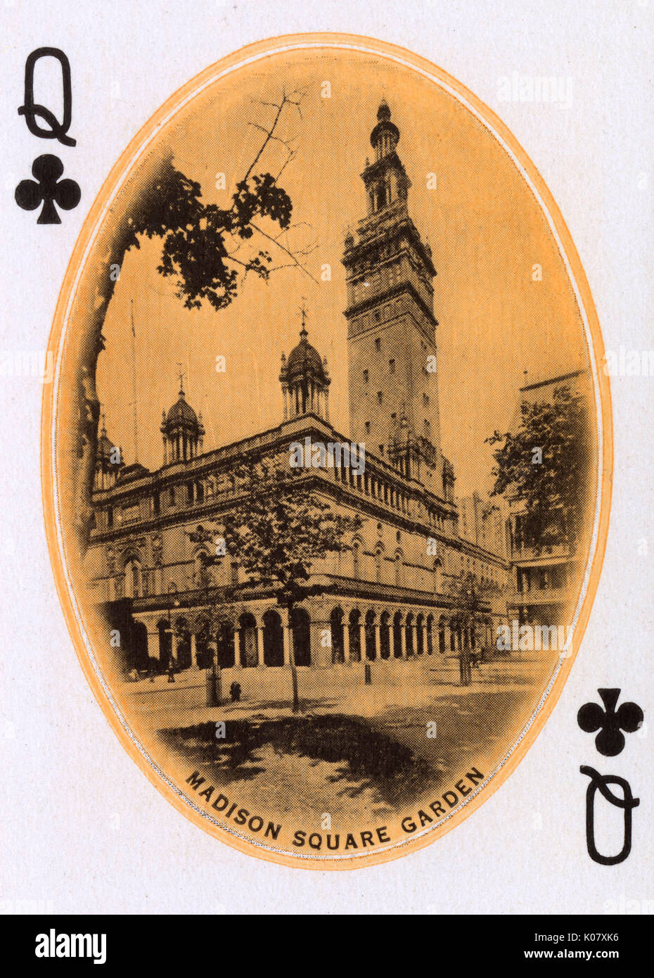 New York City - Playing card - Madison Square Garden - Queen of ...