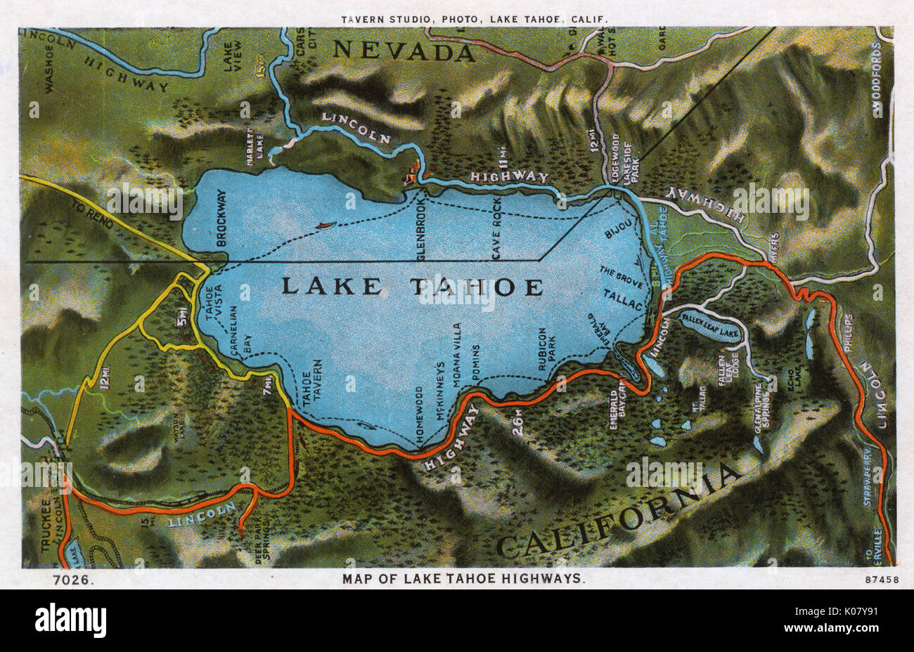 Map Of Nevada State High Resolution Stock Photography And Images Alamy