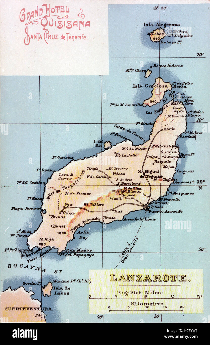 Cartina Lanzarote.Map Of The Canary Islands High Resolution Stock Photography And Images Alamy