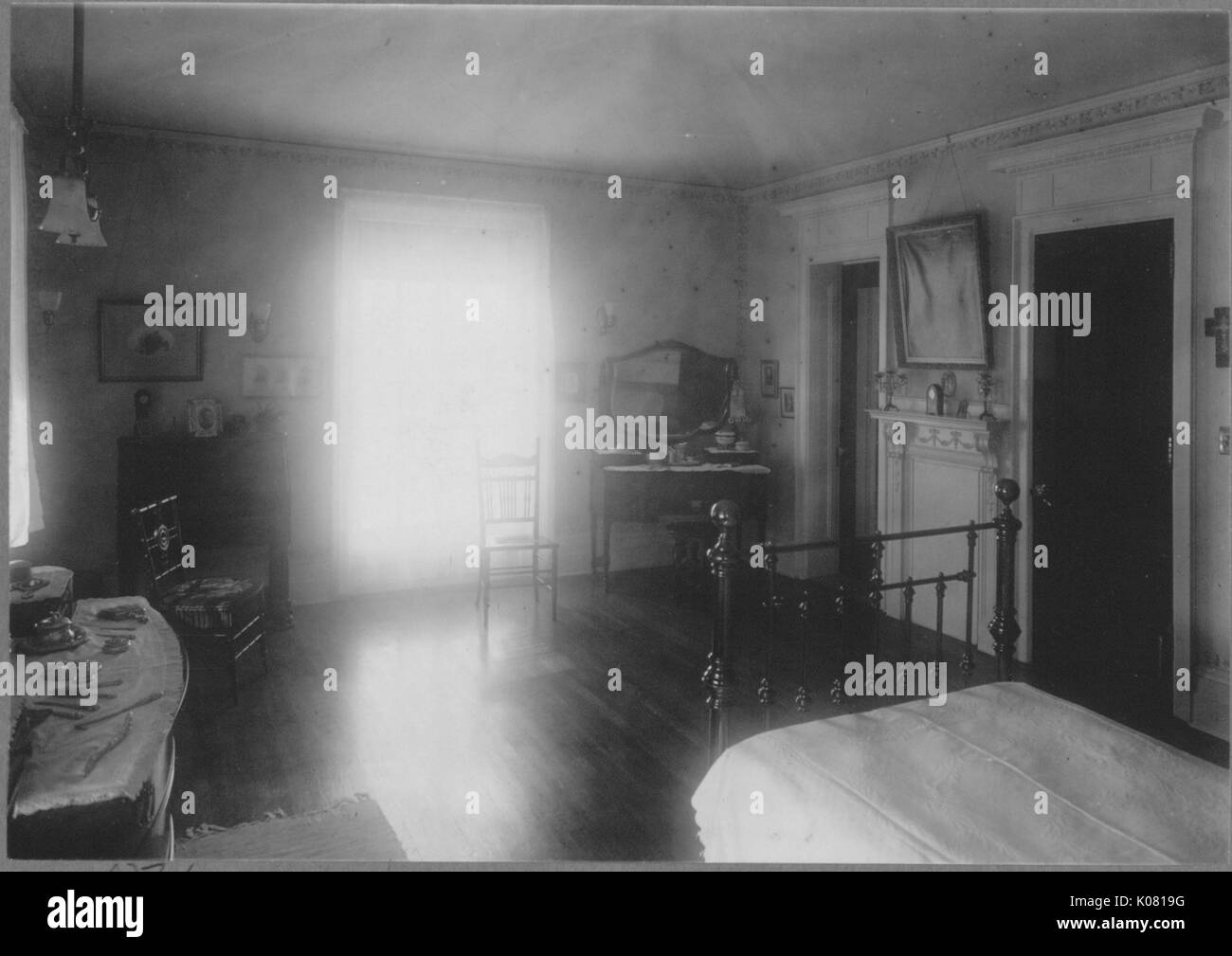 Photograph of the interior of a bedroom in Baltimore ...