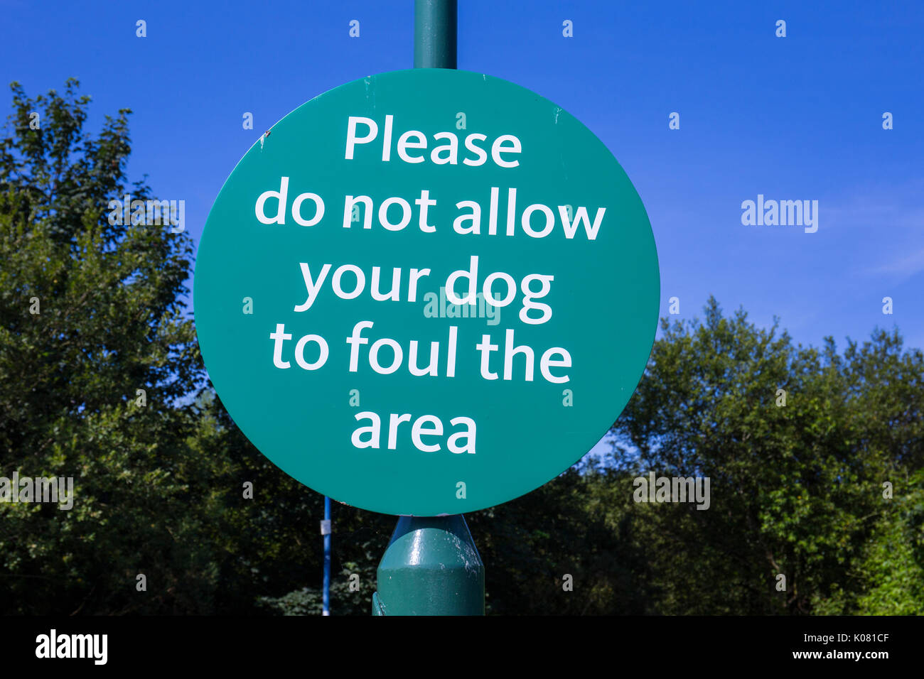 No dog foul sign - Stock Image