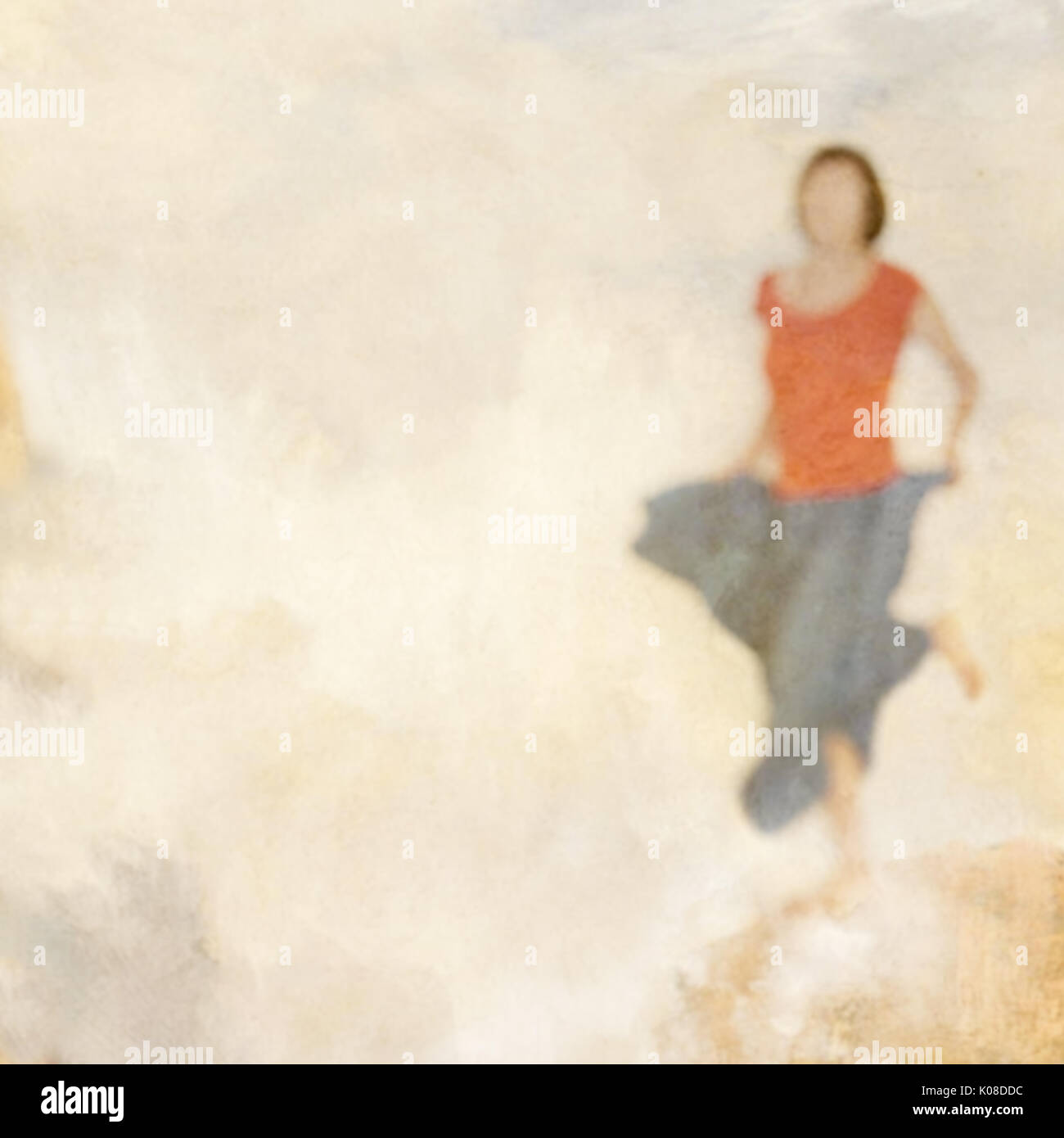 Joy, freedom concept, woman dancing, Blurry, impressionistic. - Stock Image
