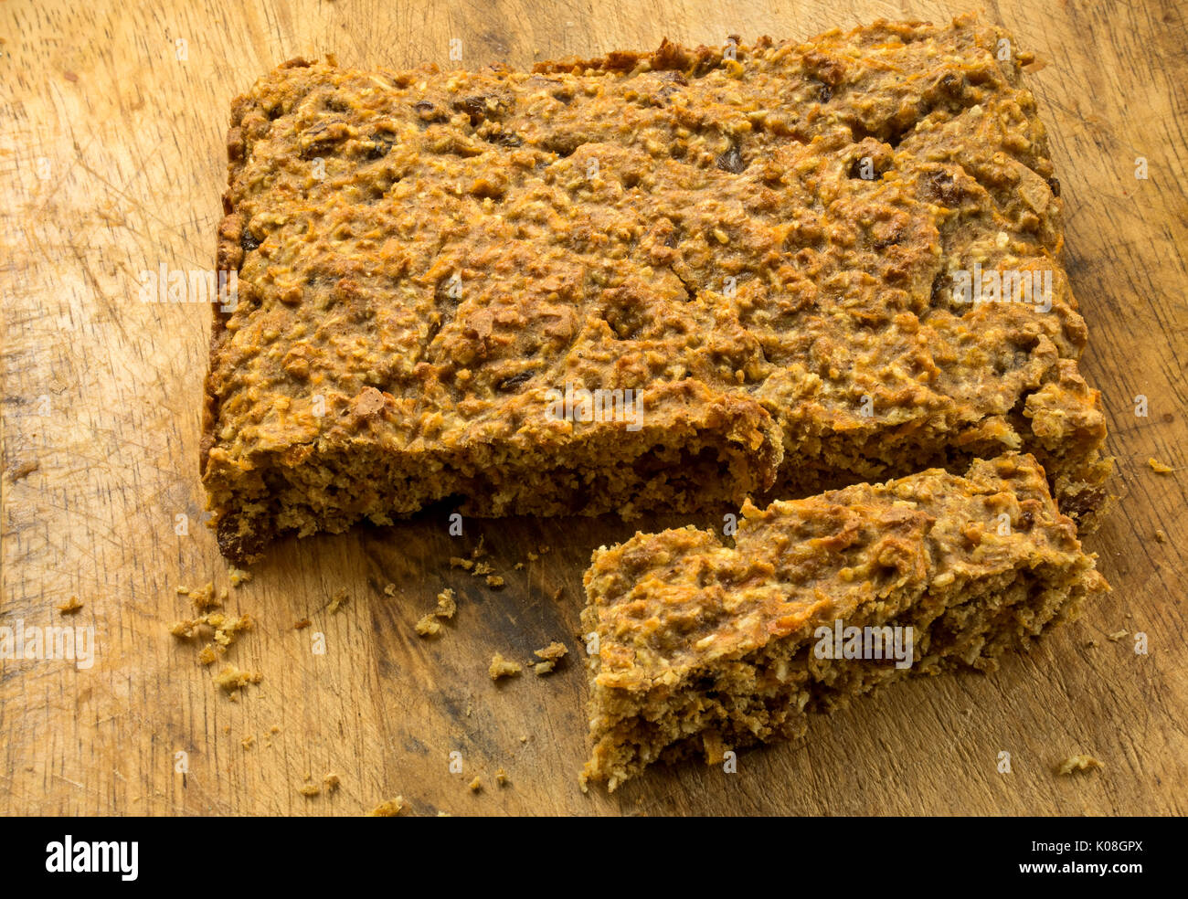 This home cooked cake is a wholesome, healthy snack - Stock Image