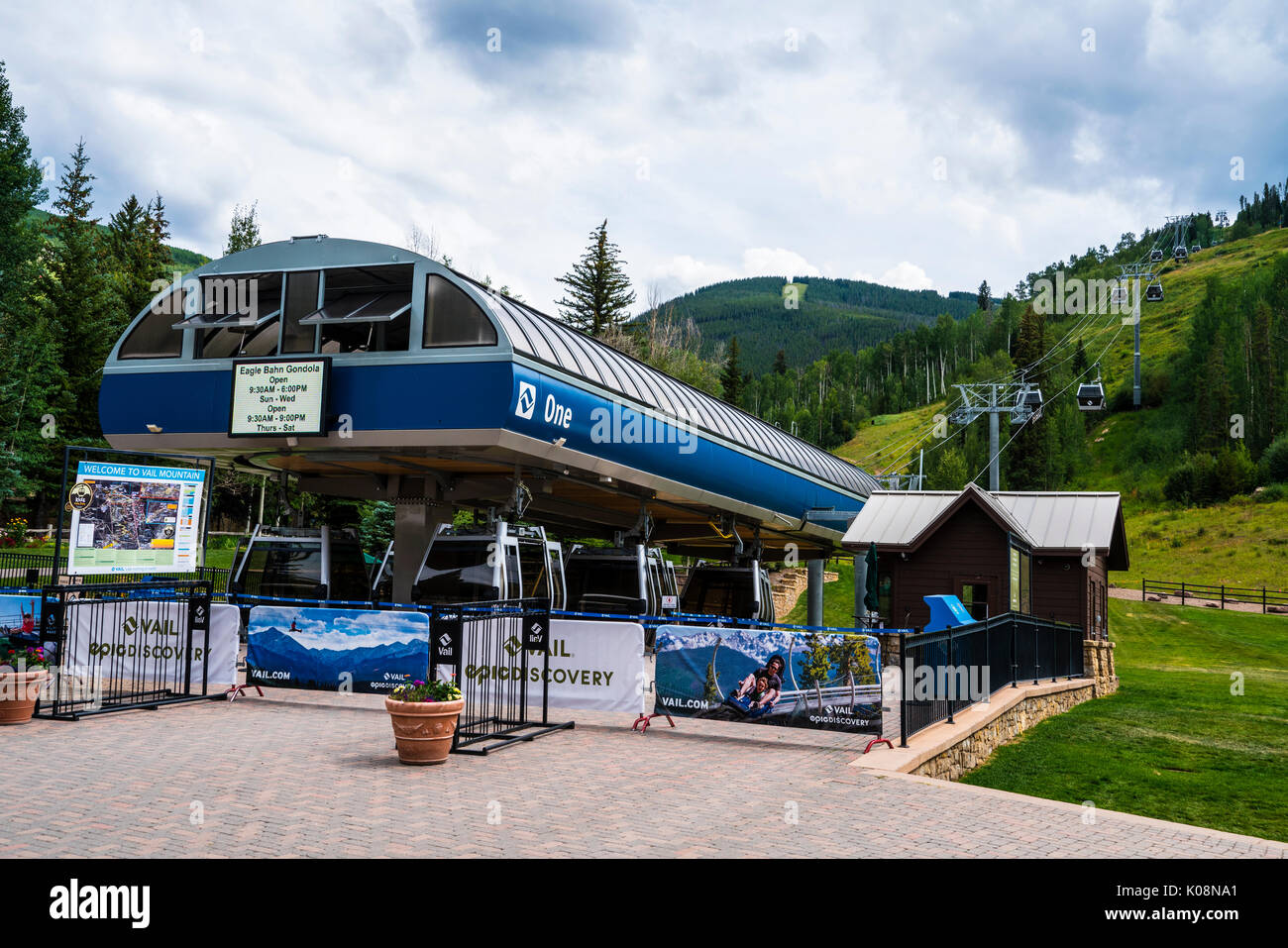 Gondola liift in Vail Ski Resort, Vail, CO, United States Stock Photo
