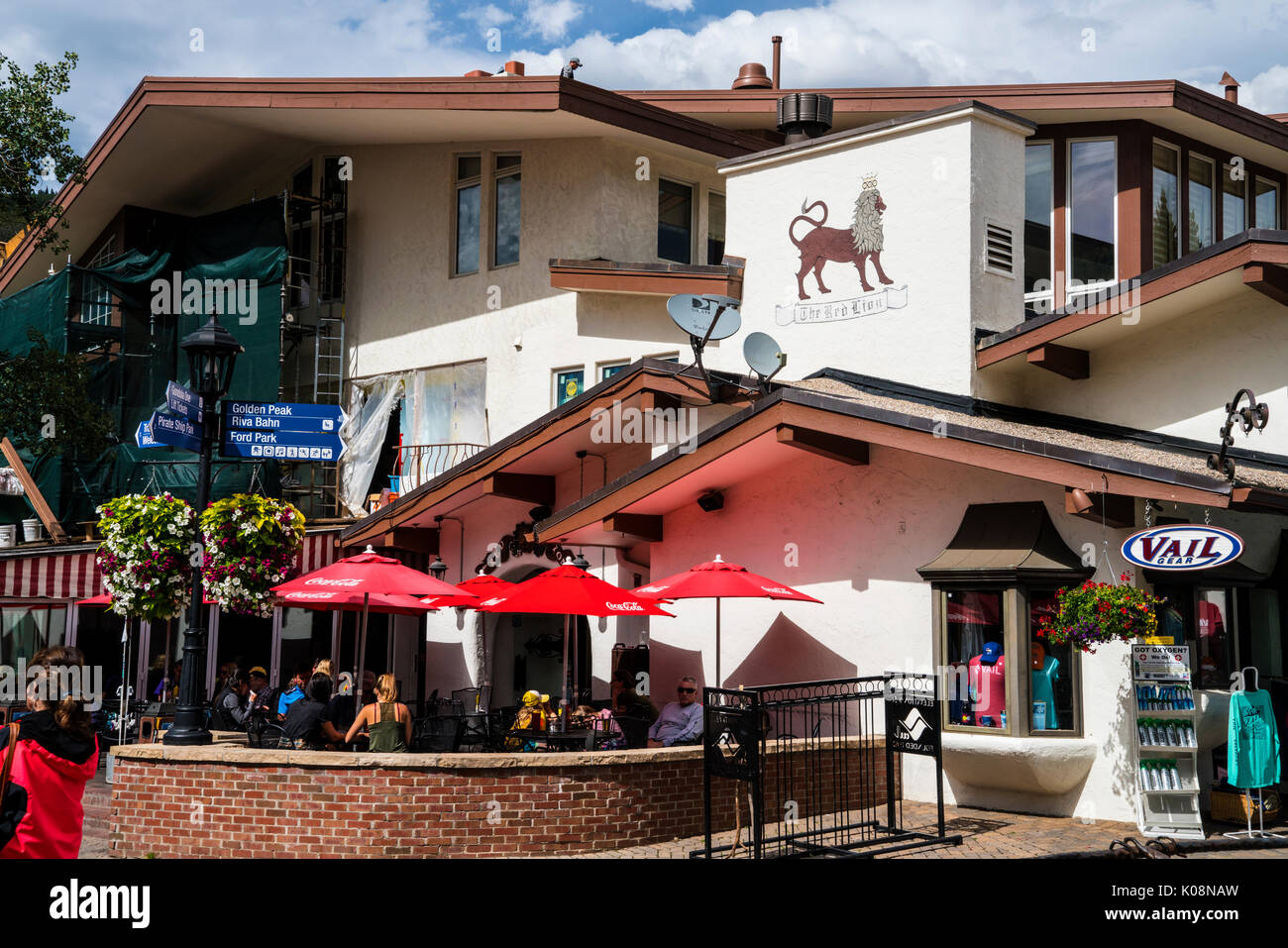 Red Lion Restaurant in Vail Ski Resort, Vail, CO, United States Stock Photo