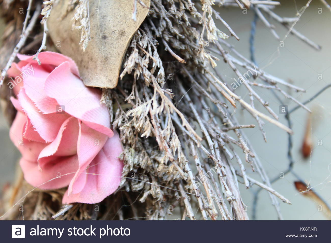 Old Country Wreath - Stock Image