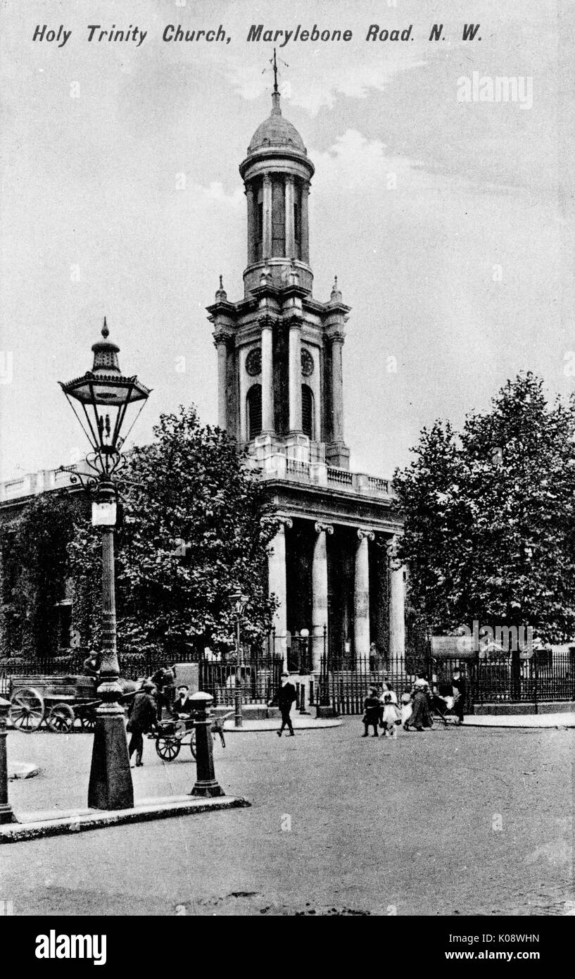 Holy Trinity Church, Marylebone Road, London.      Date: circa 1908 - Stock Image