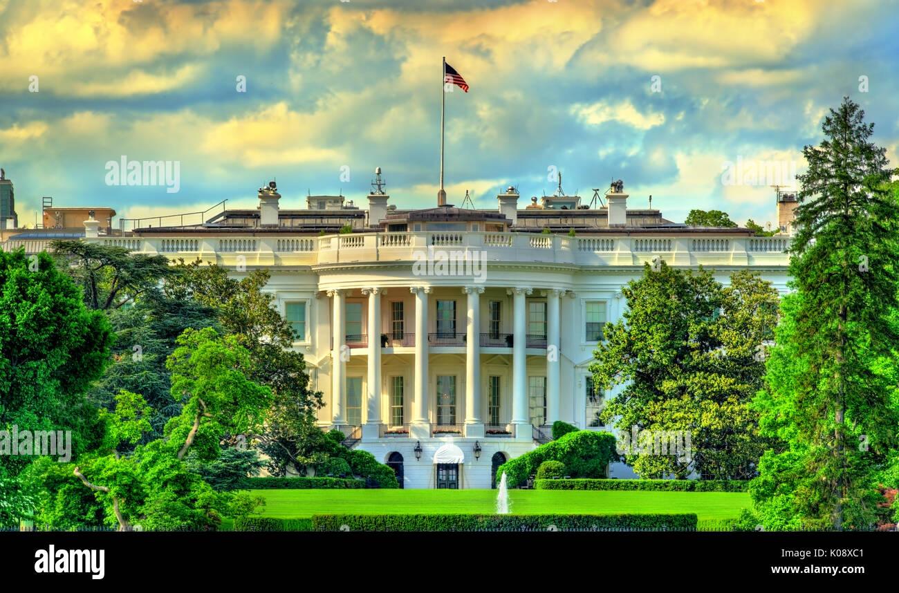 The White House in Washington, DC - Stock Image