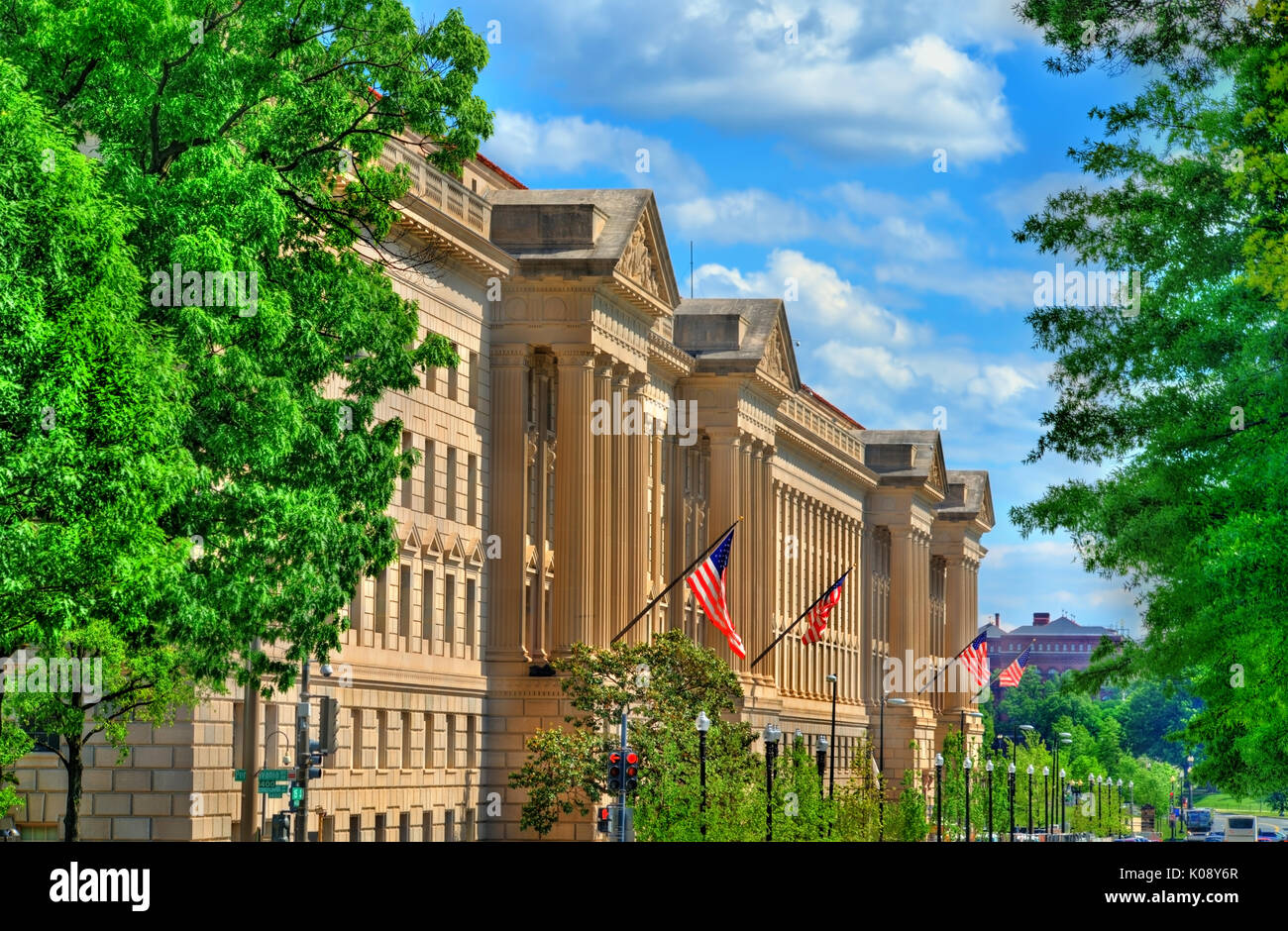 The United States Department of Commerce in Washington, D.C. - Stock Image