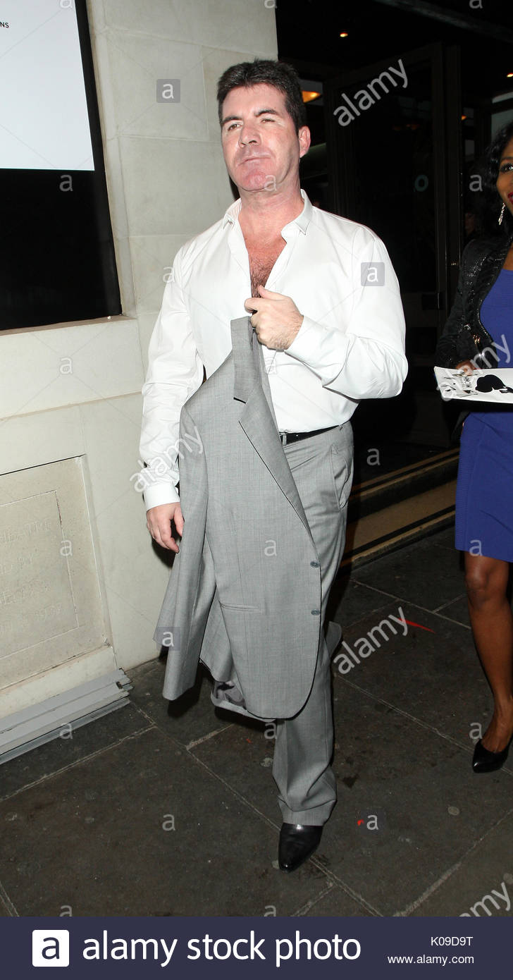 Simon Cowell. Simon Cowell and Sinitta are seen leaving  The Book Of  Mormon  gala performance in aid of Red Nose Day. Simon and Sinitta both  looked happy as ... 40809bbaab748