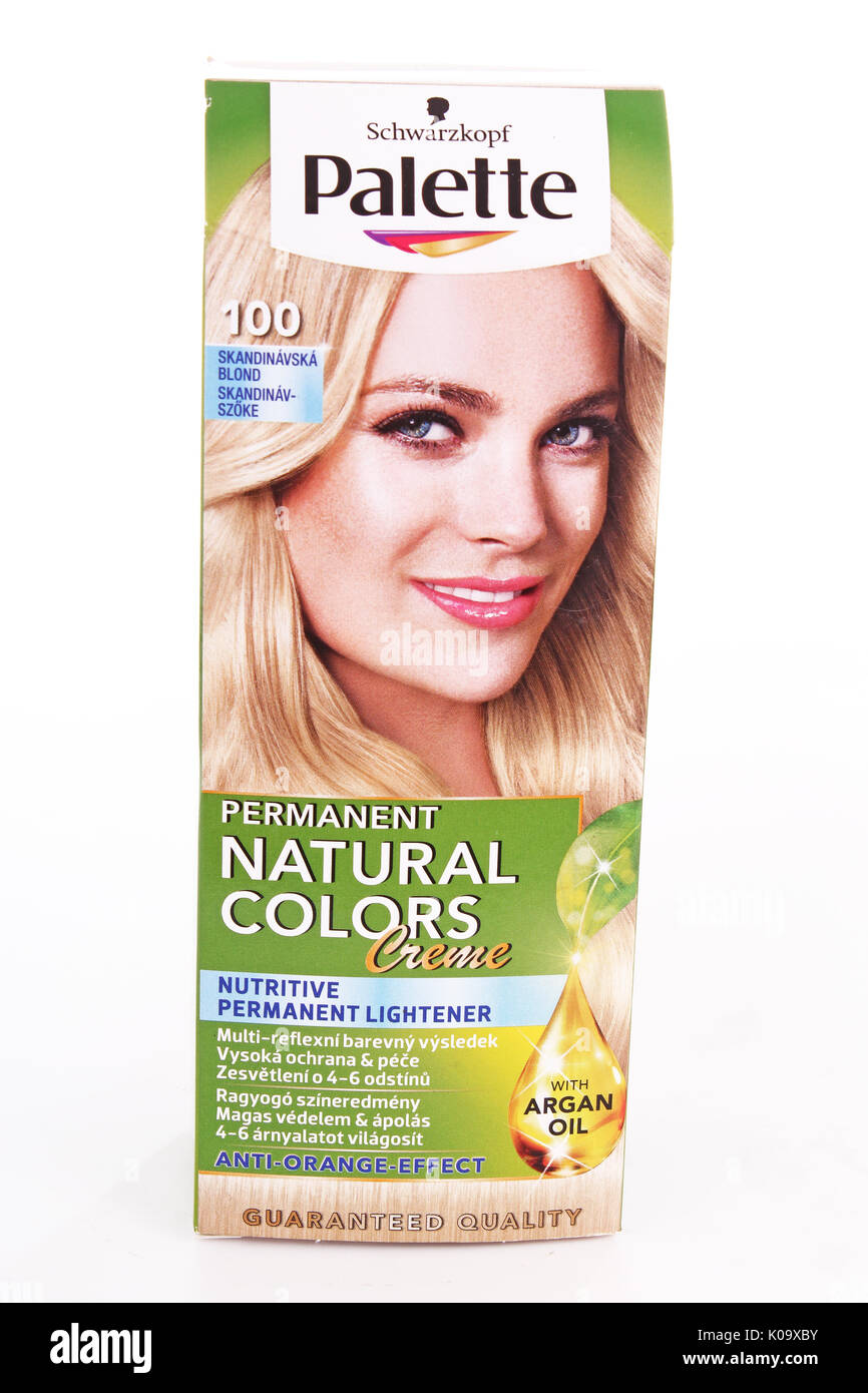 Palette Permanent Natural Colors Blond Hair Dye On Isolated White