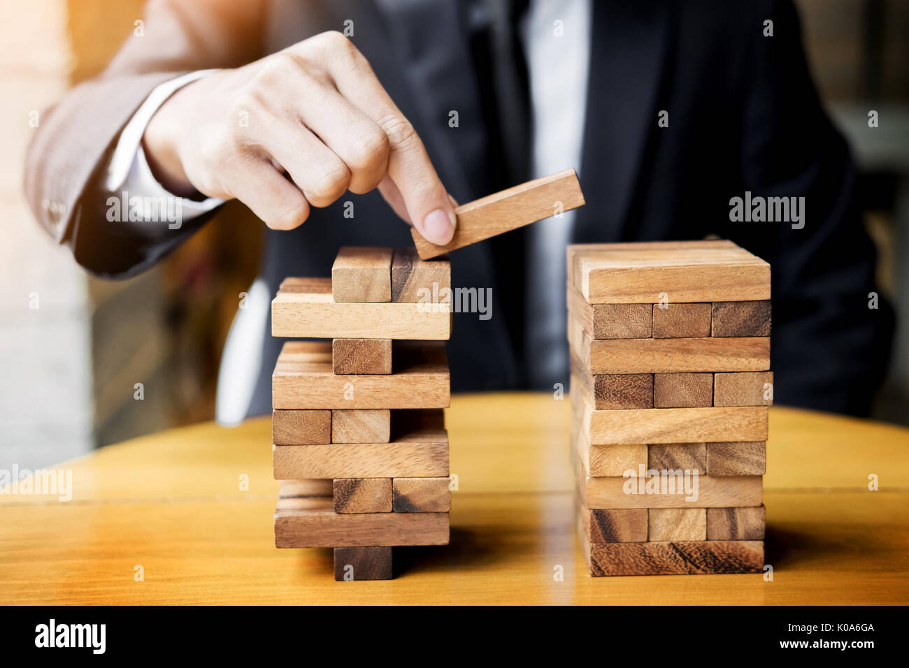 Planning Risk And Wealth Strategy In Business Concept Businessman