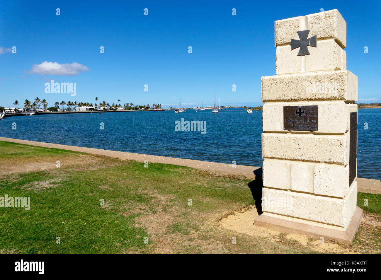 Memorial for the sailors of the HSK Kormoran, Carnarvon, Gascoyne, Western Australia - Stock Image
