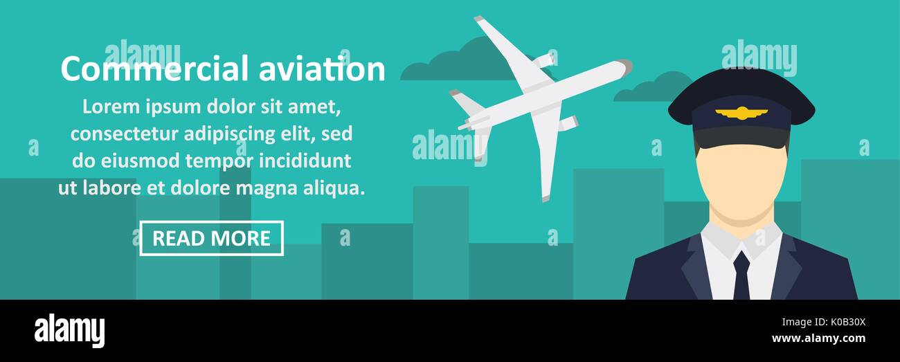 Commercial aviation banner horizontal concept - Stock Image
