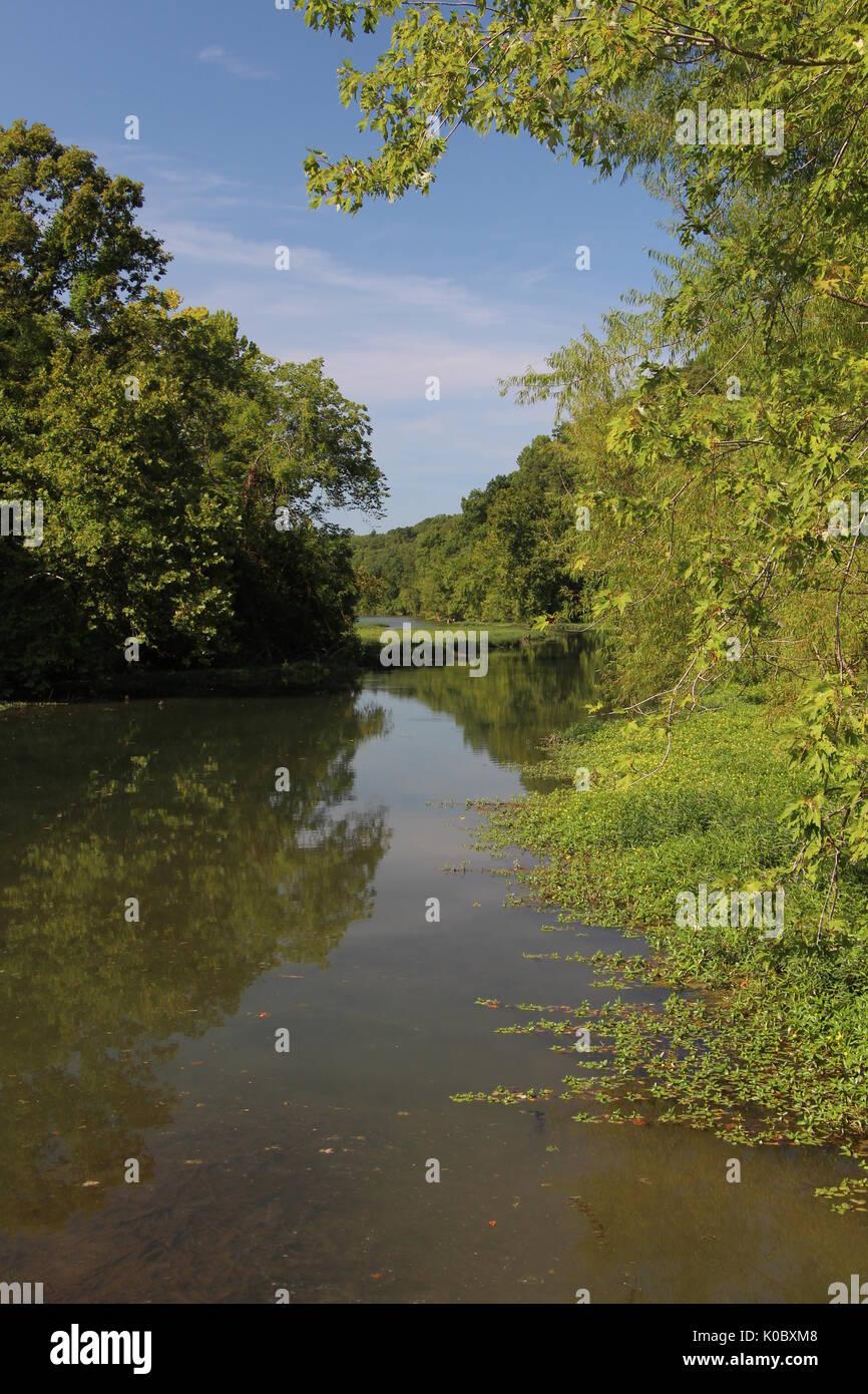 Springfield Lake at the Nature Center - Stock Image