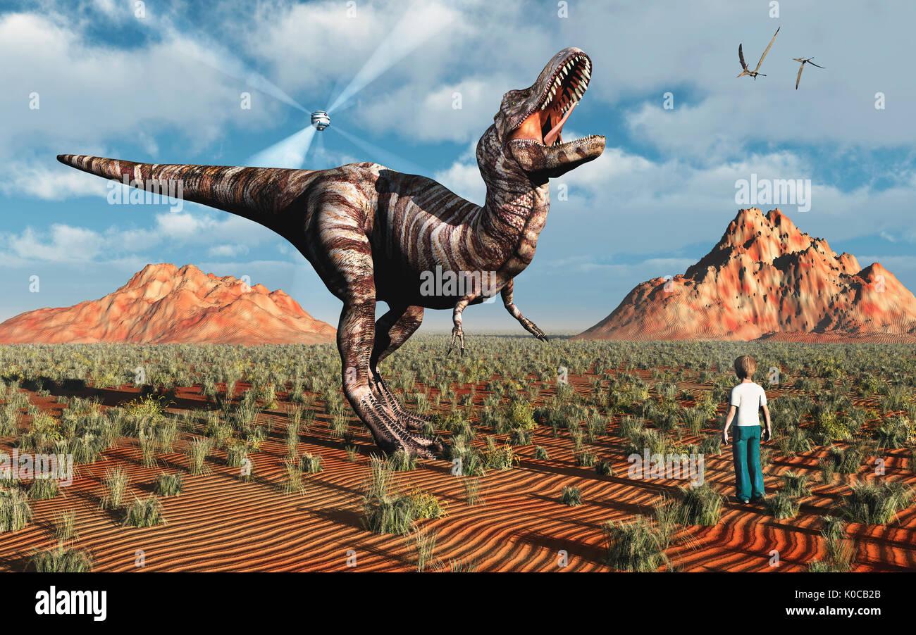Prehistoric Hologram Stock Photo