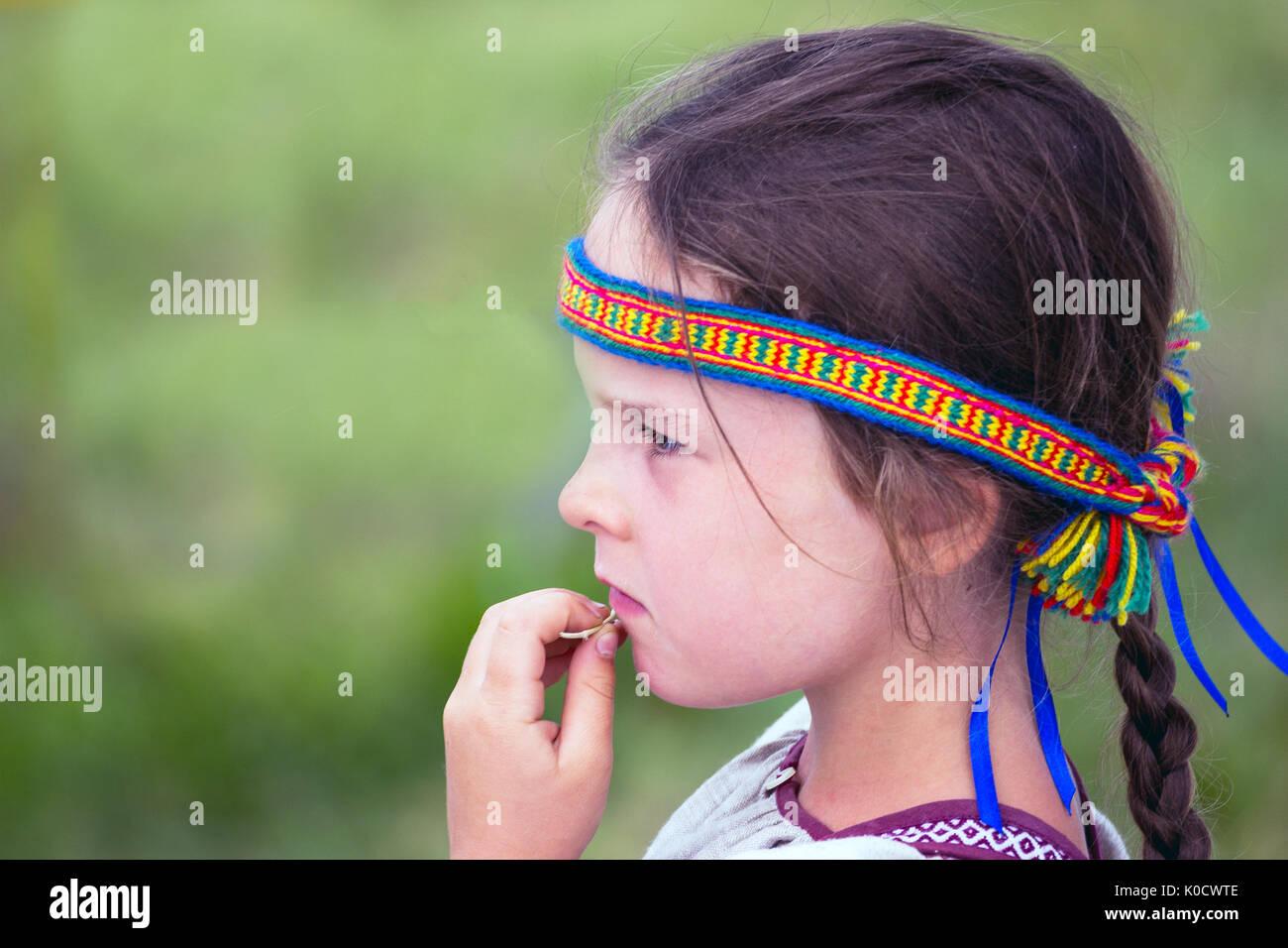 Portrait Slavic girls - Stock Image
