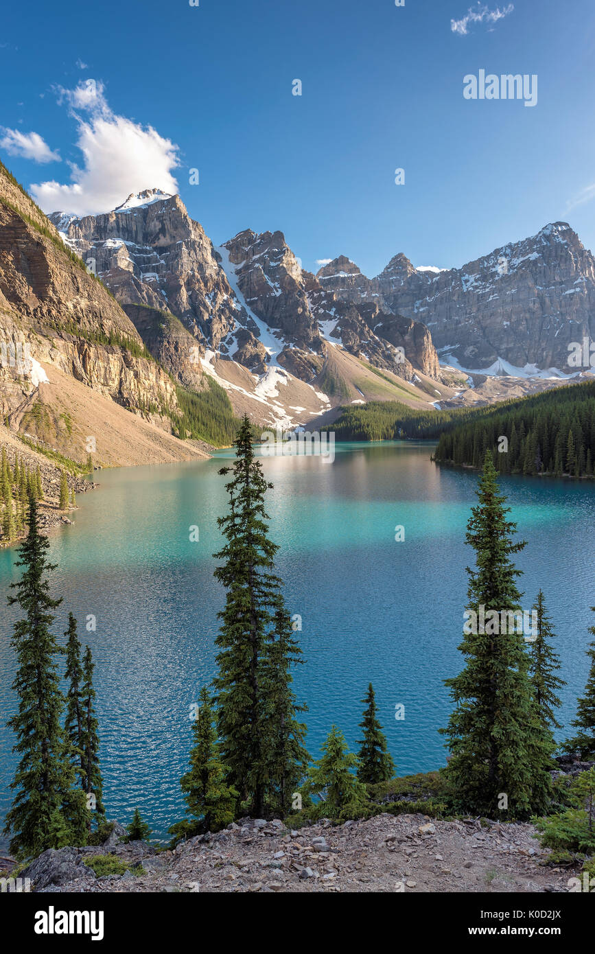 Beautiful Moraine lake in Banff National park, Canada - Stock Image