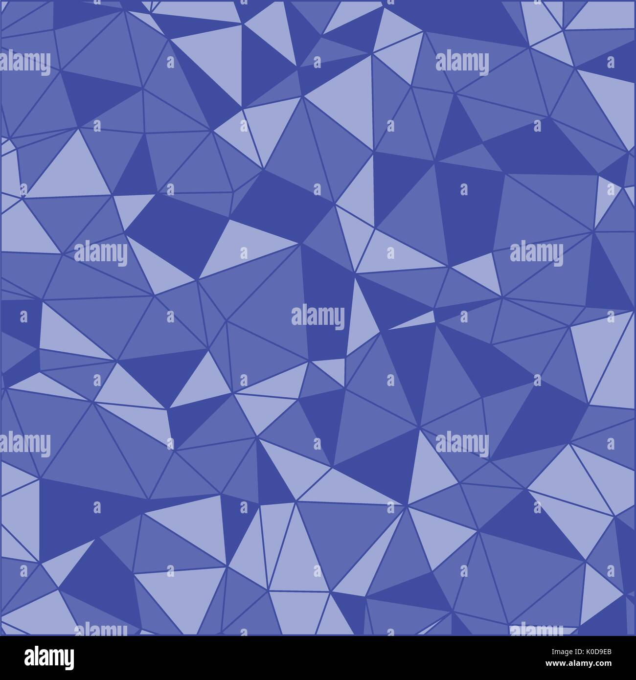 Geometric Abstract Art Indigo