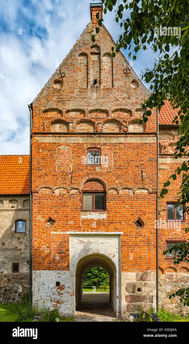 An image of the medieval building of Borgeby Castle in the Skane region of Sweden. - Stock Image
