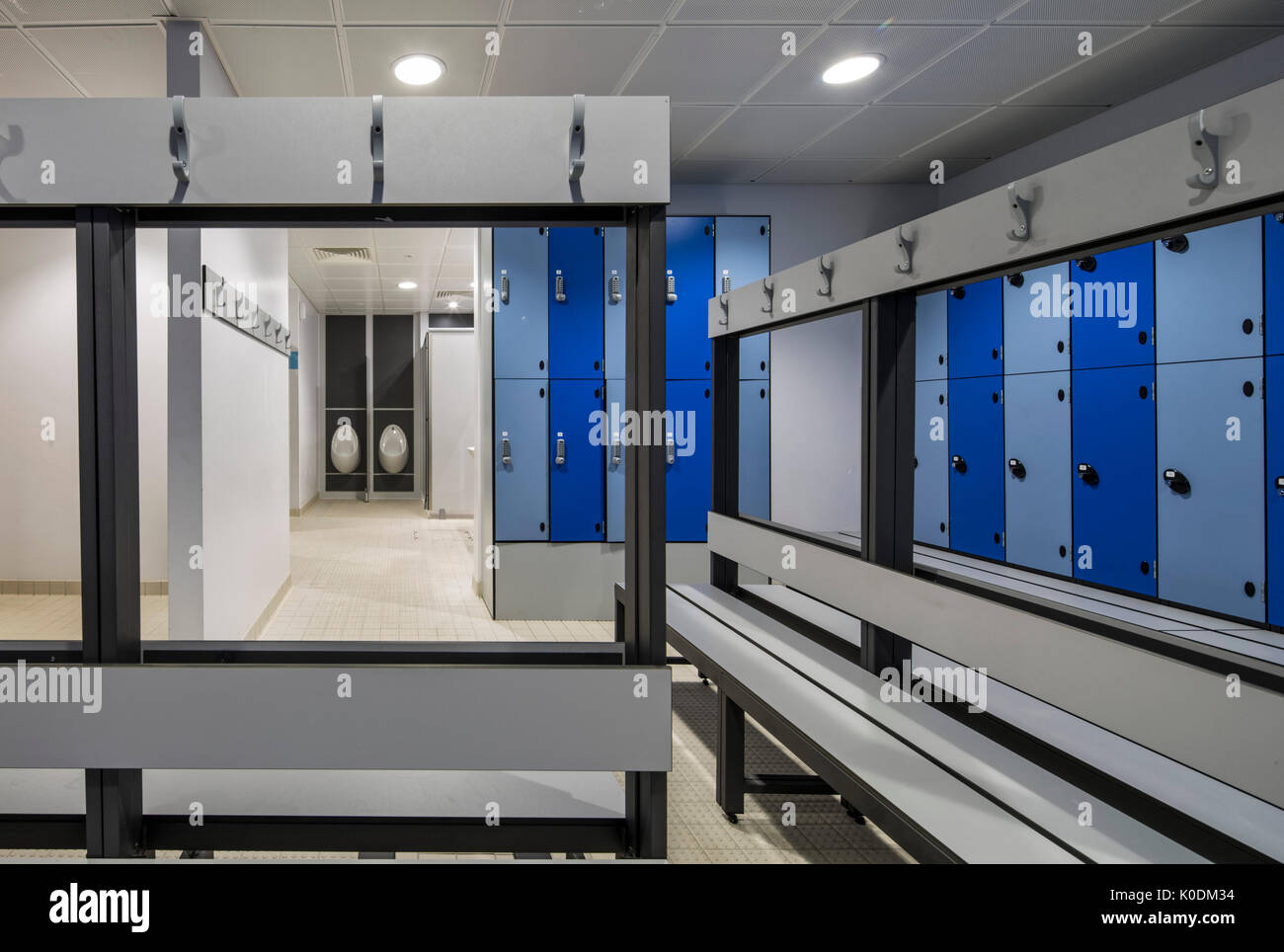 Changing room Haberdashers Askes New Sports Centre Elstree
