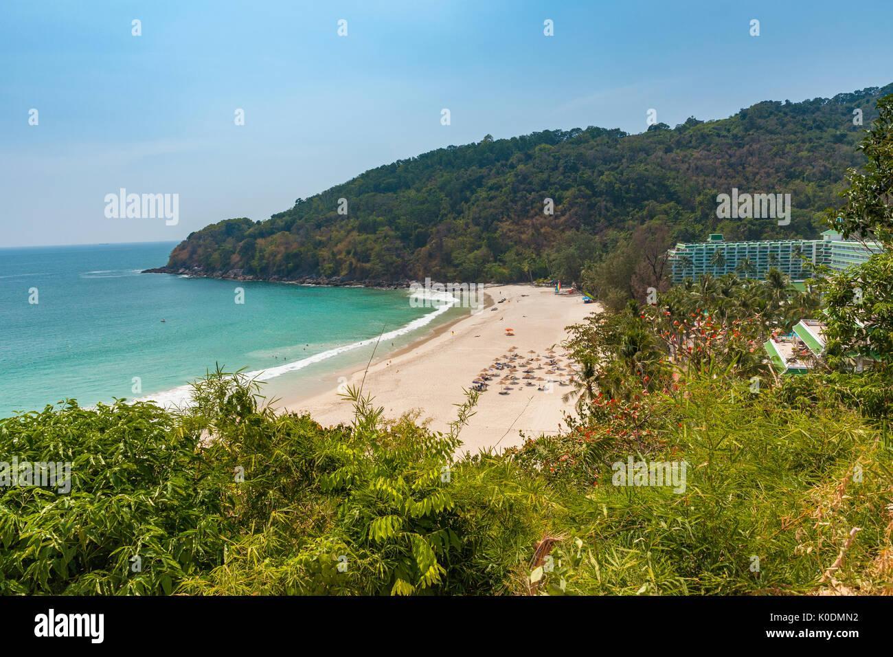 Daytime view of the Karon Noi Beach, Phuket, Thailand. - Stock Image