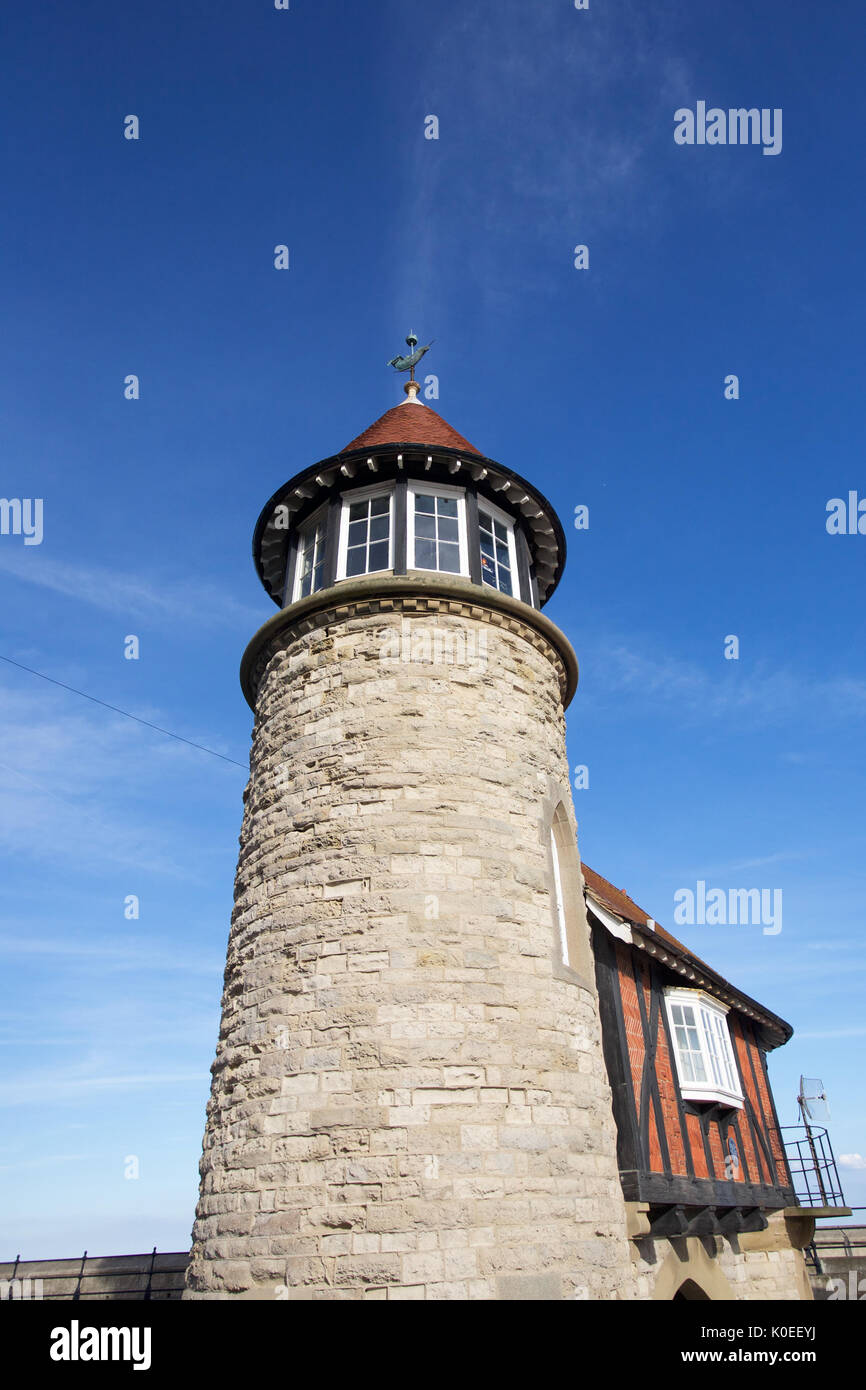 The Old Lighthouse at South Bay, Scarborough - Stock Image