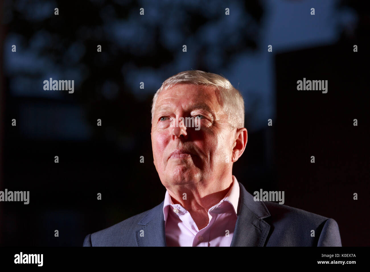 Edinburgh, Scotland 22nd August. Day 11 Edinburgh International Book Festival. Pictured: Alan Johnson, British Labour Party politician who served as Home Secretary from June 2009 to May 2010. Pako Mera/Alamy Live News. - Stock Image