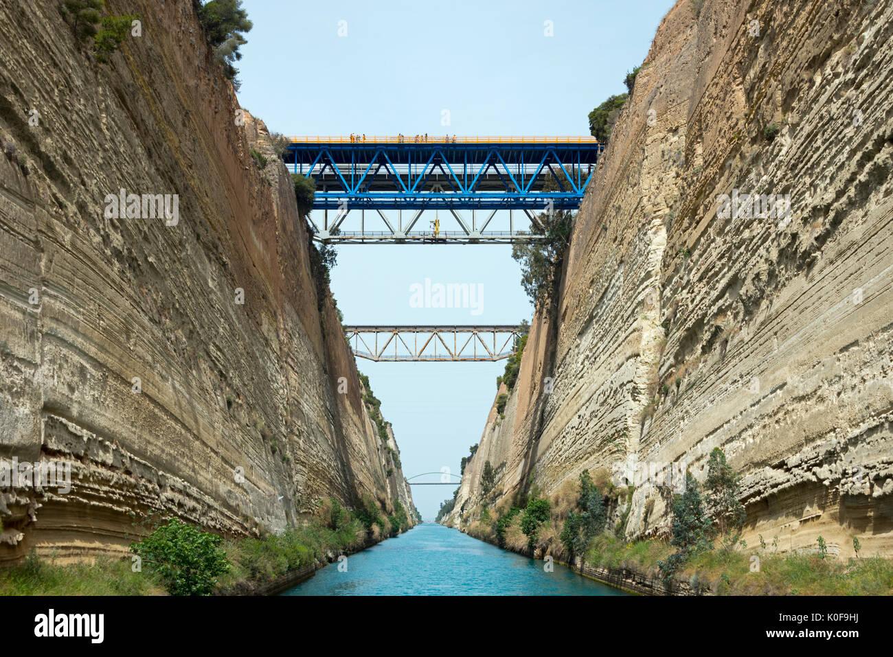 Corinth Canal, Peloponnese, Greece Stock Photo