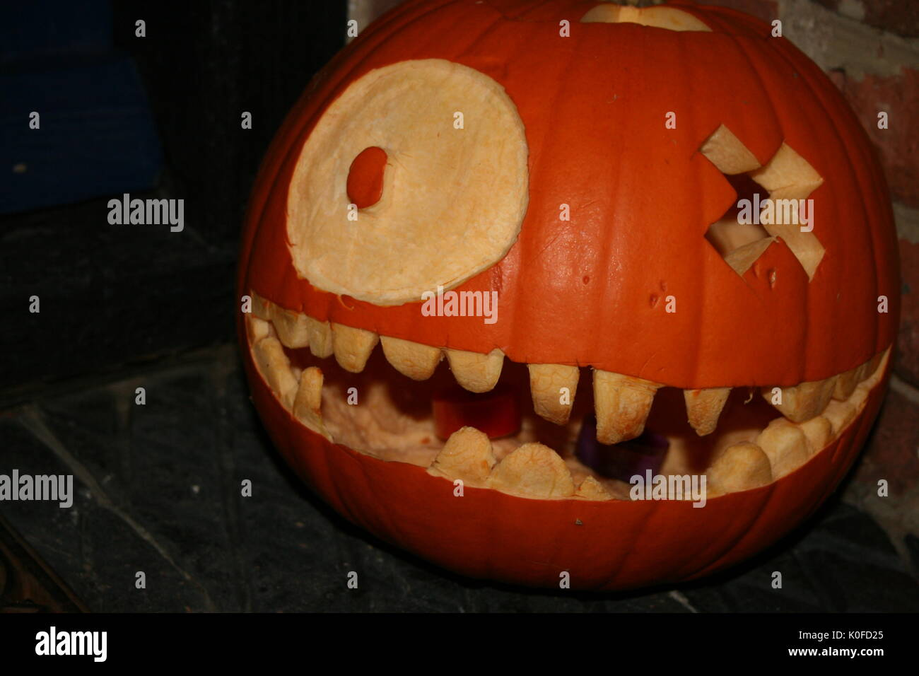 Scary Pumpkin Carved For Halloween Stock Photo Alamy Free for commercial use no attribution required high quality images. https www alamy com scary pumpkin carved for halloween image155232845 html